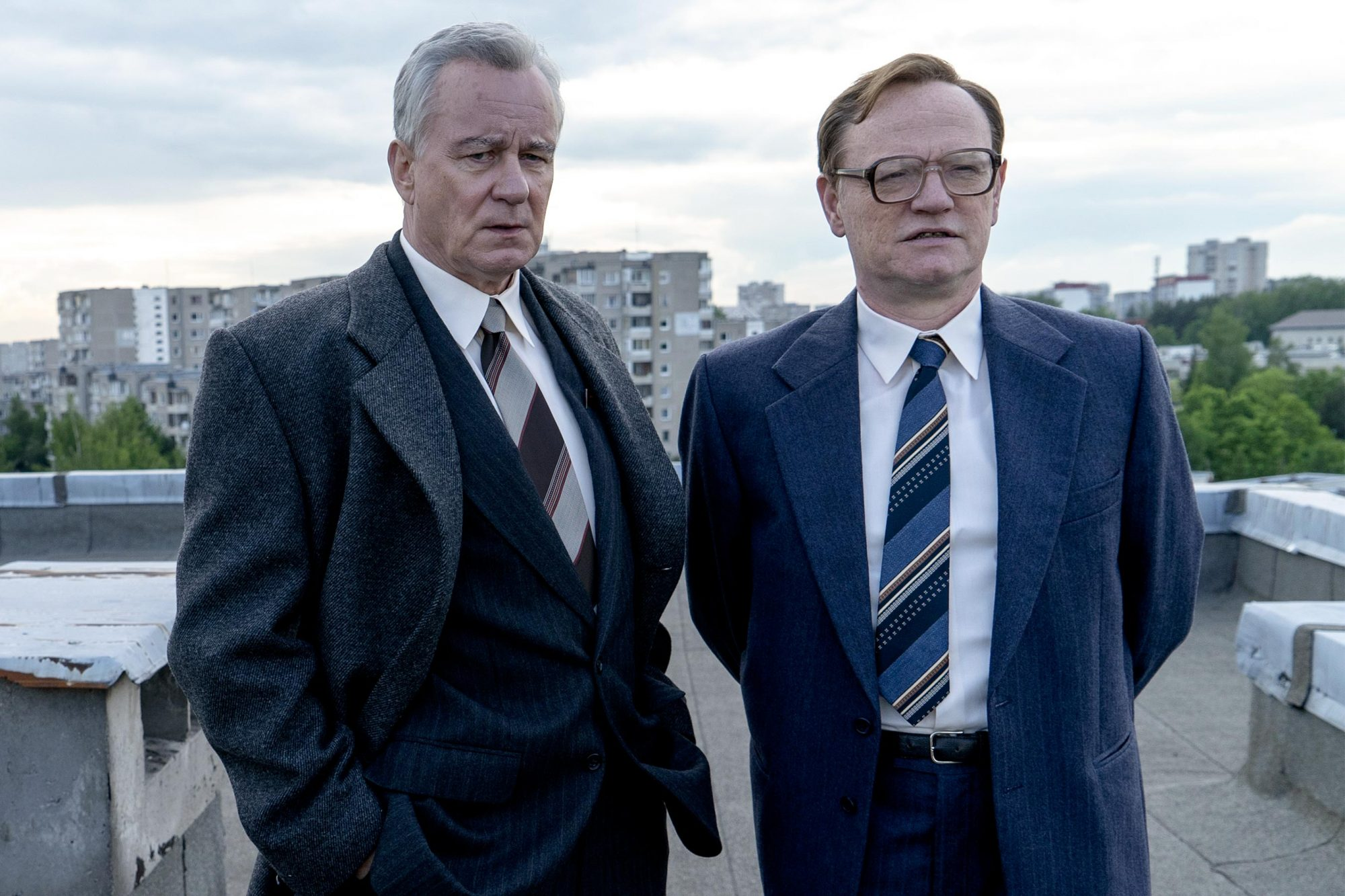 Chernobyl Episode 2: Stellan Skarsgård, Jared Harris. photo: Liam Daniel/HBO