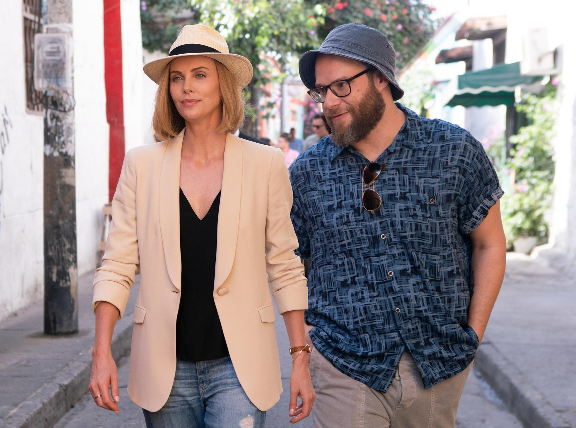 11. Seth Rogen and Charlize Theron in Long Shot (2019)