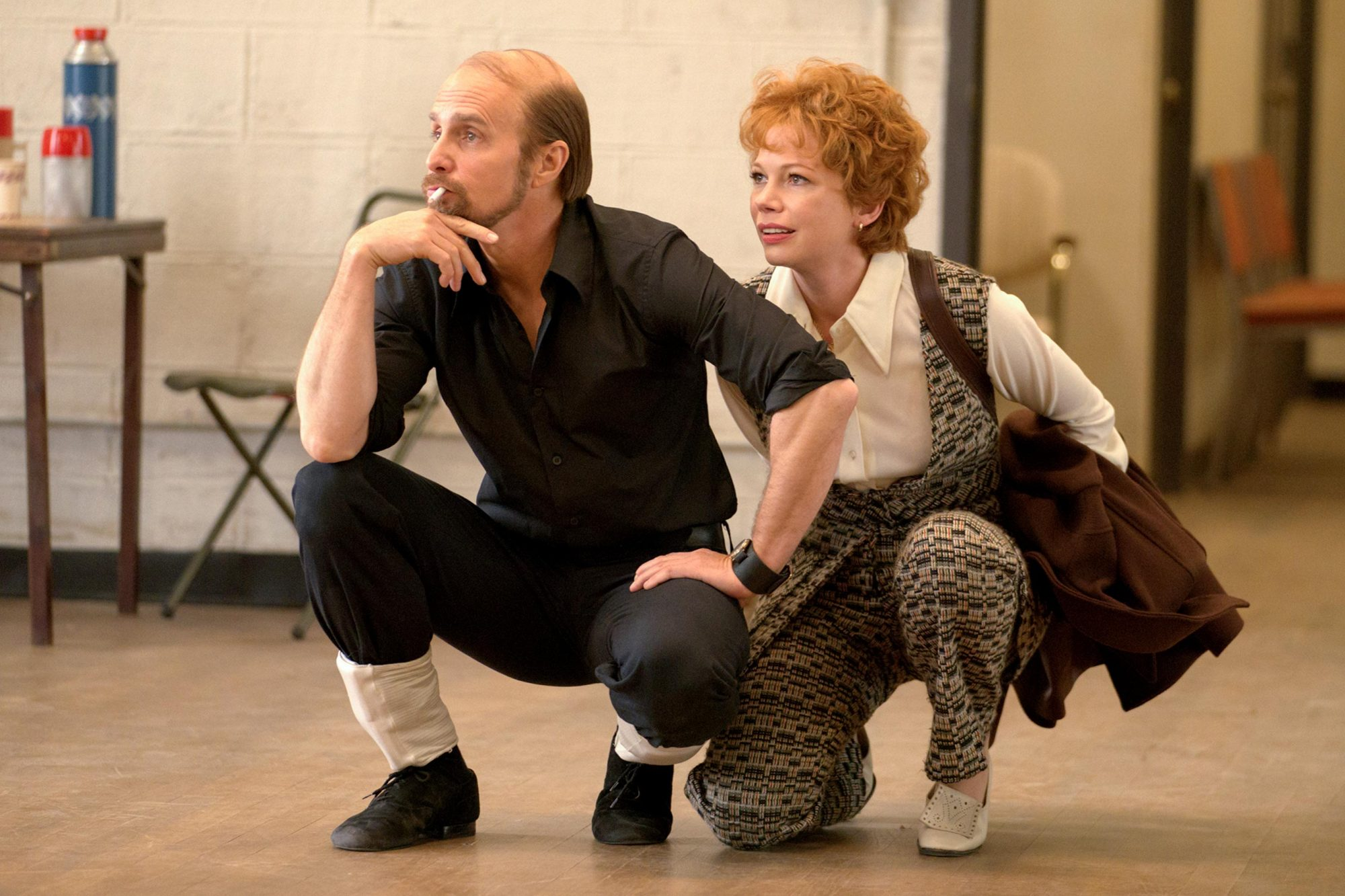 "FOSSE VERDON ""Glory"" Episode 4 (Airs Tuesday, April 30, 10:00 pm/ep) -- Pictured: (l-r) Sam Rockwell as Bob Fosse, Michelle Williams as Gwen Verdon. CR: Michael Parmelee/FX"