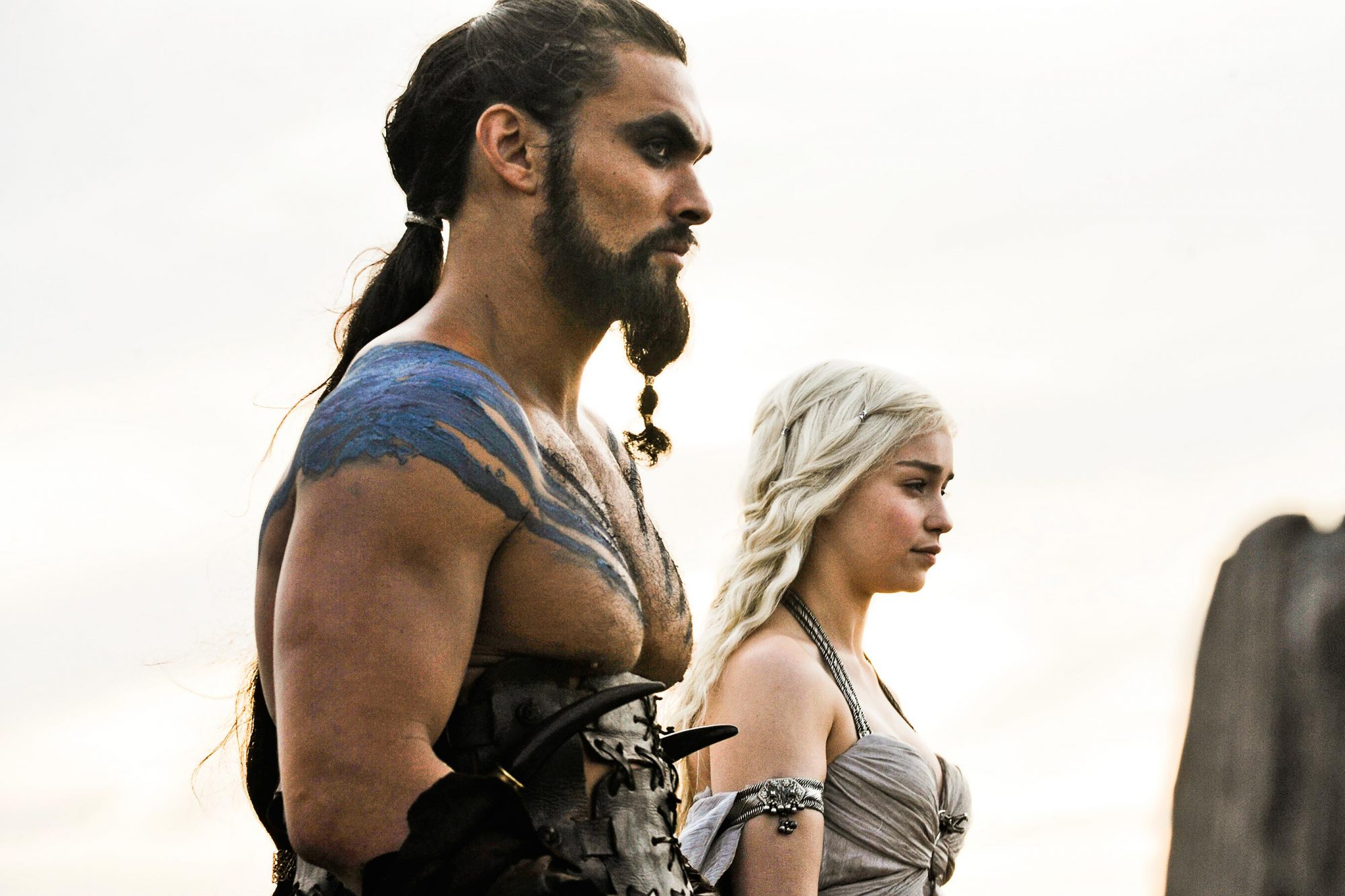 GAME OF THRONES Season 1Jason Momoa, Emilia Clarke