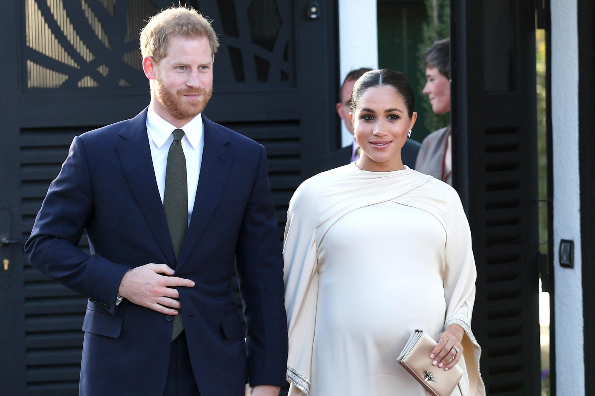 RABAT, MOROCCO - FEBRUARY 24: Prince Harry, Duke of Sussex and Meghan, Duchess of Sussex arrive for a reception hosted by the British Ambassador to Morocco at the British Residence during the second day of their tour of Morocco on February 24, 2019 in Rabat, Morocco. (Photo by Yui Mok - Pool/Getty Images)