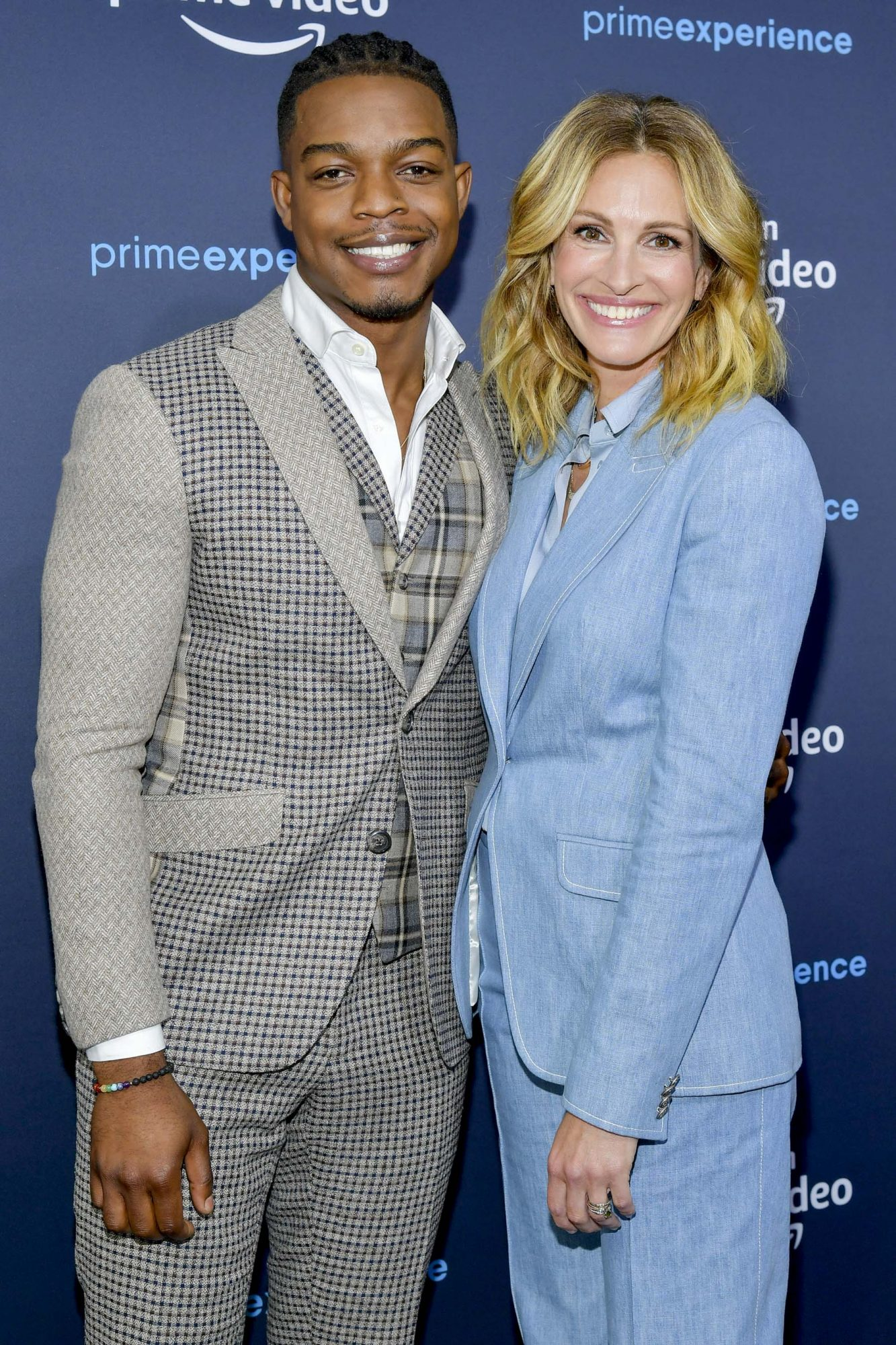 """HOLLYWOOD, CALIFORNIA - MAY 05: Stephan James and Julia Roberts attend the Amazon Prime Experience FYC Screening of """"Homecoming"""" at Hollywood Athletic Club on May 05, 2019 in Hollywood, California. (Photo by Amy Sussman/Getty Images)"""