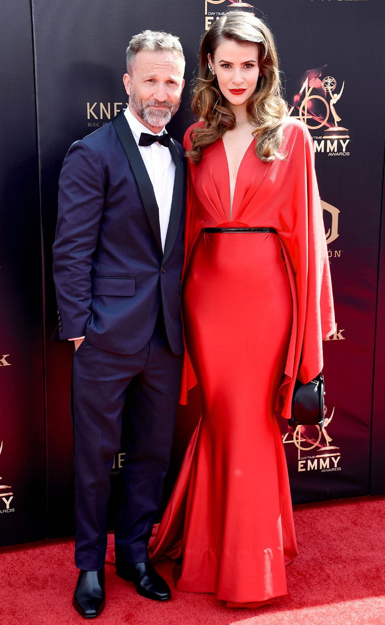 reckin Meyer and Linsey Godfrey attend the 46th annual Daytime Emmy Awards