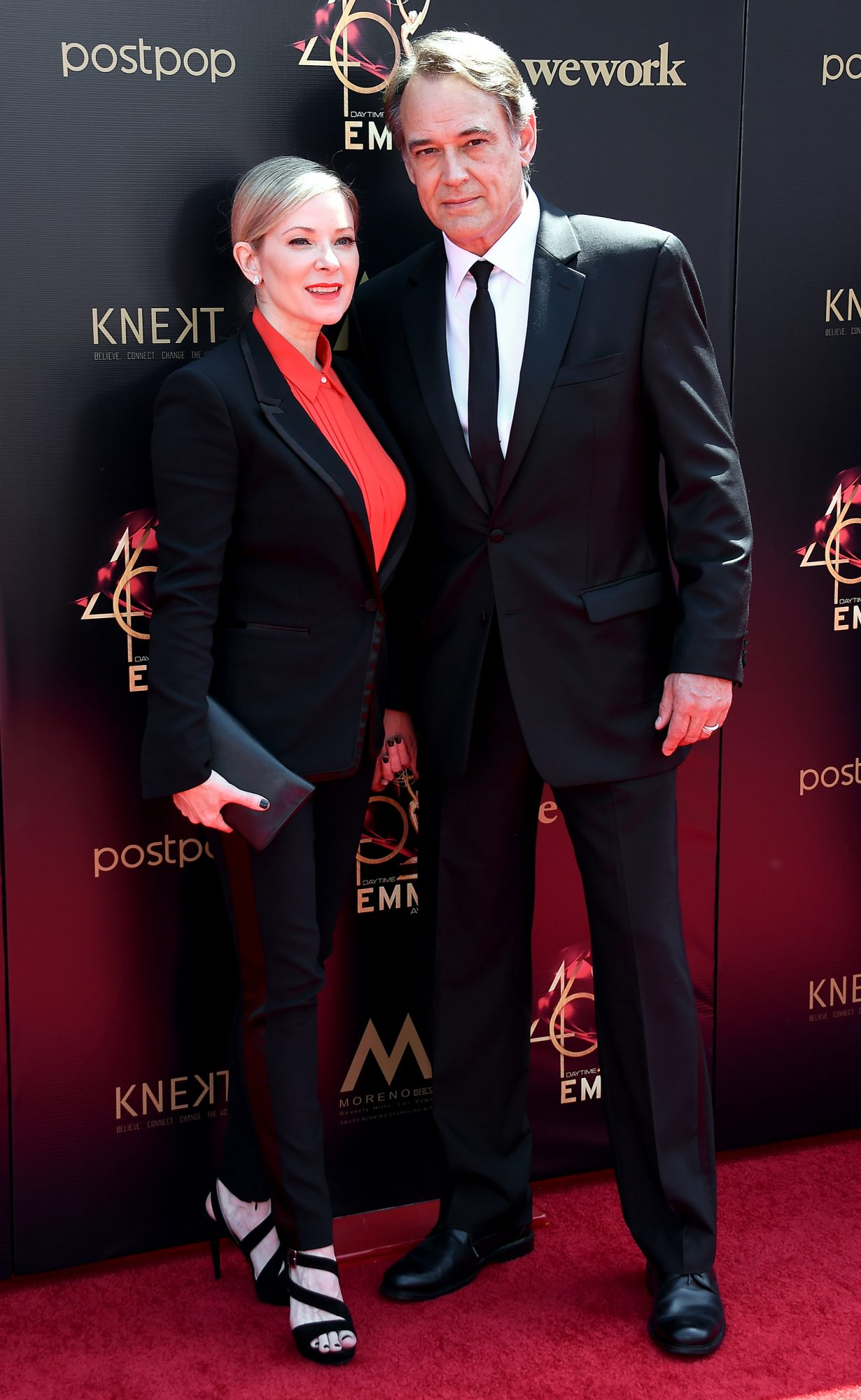 Cady McClain and Jon Lindstrom attend the 46th annual Daytime Emmy Awards