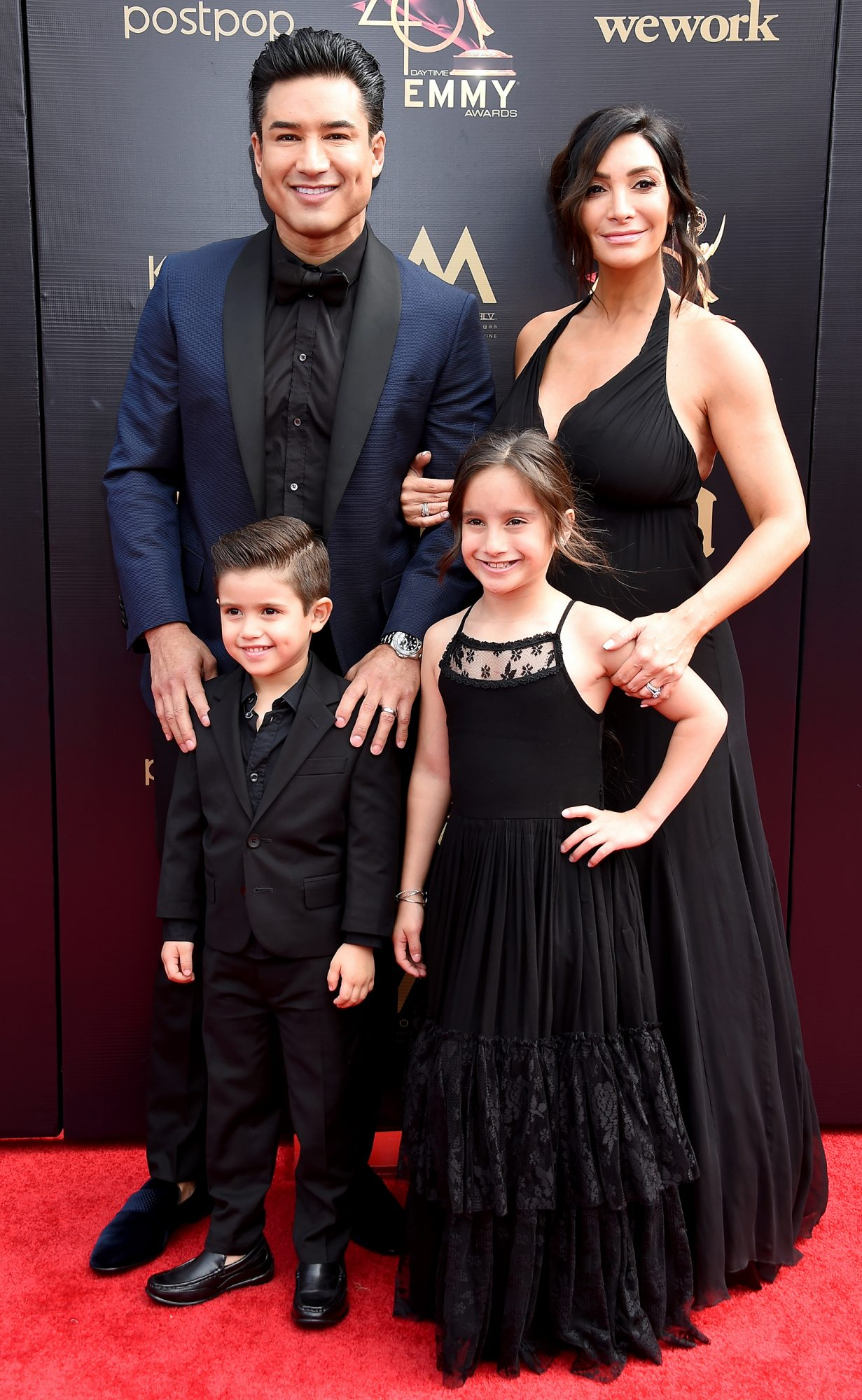 Mario Lopez, Courtney Laine Mazza, Dominic Lopez and Gia Francesca Lopez attend the 46th annual Daytime Emmy Awards