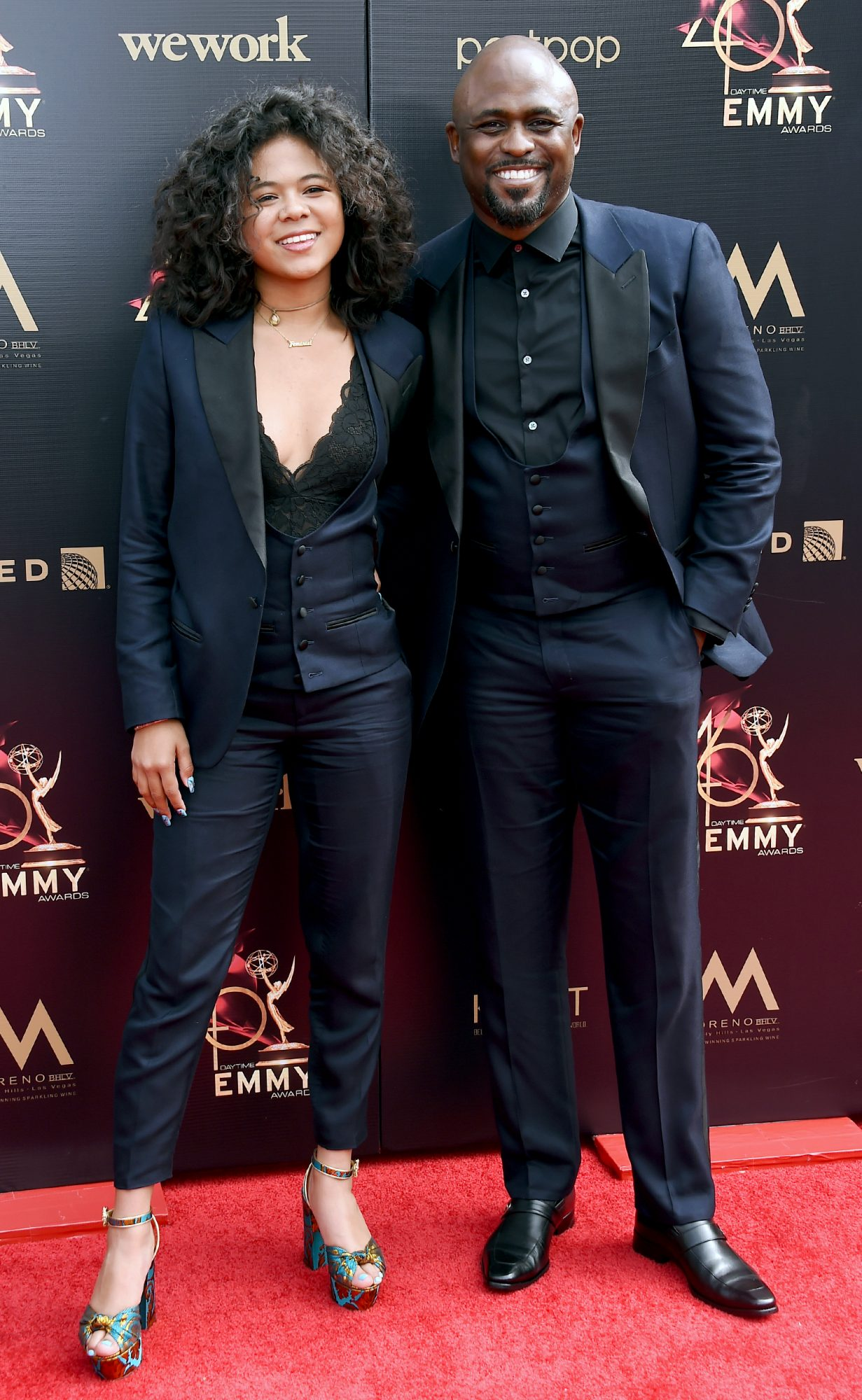 Maile Masako Brady and Wayne Brady attend the 46th annual Daytime Emmy Awards