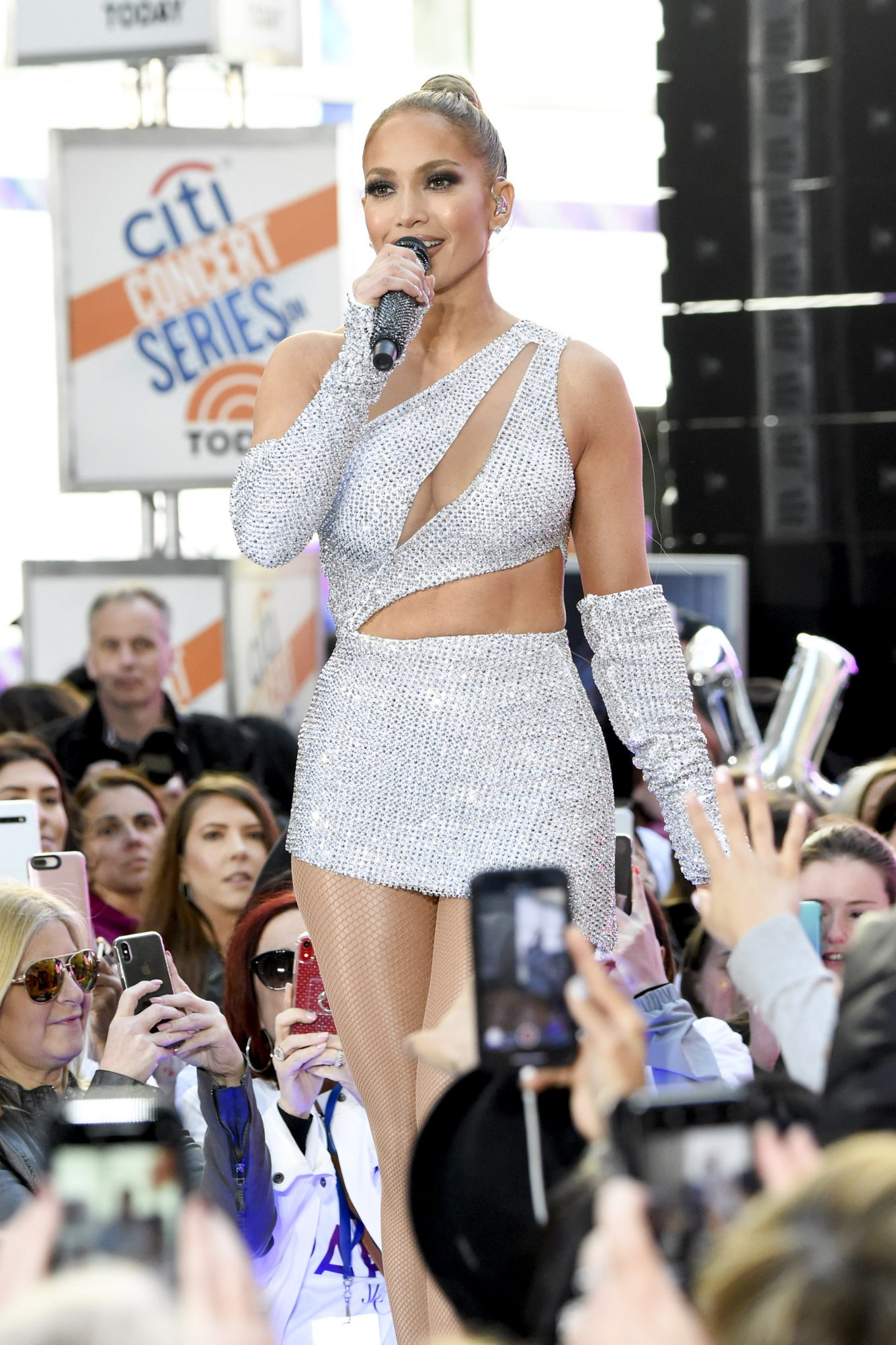 NEW YORK, NEW YORK - MAY 06: Jennifer Lopez performs onstage during Citi Concert Series On TODAY Presents Jennifer Lopez at Rockefeller Plaza on May 06, 2019 in New York City. (Photo by Kevin Mazur/Getty Images for Citi)