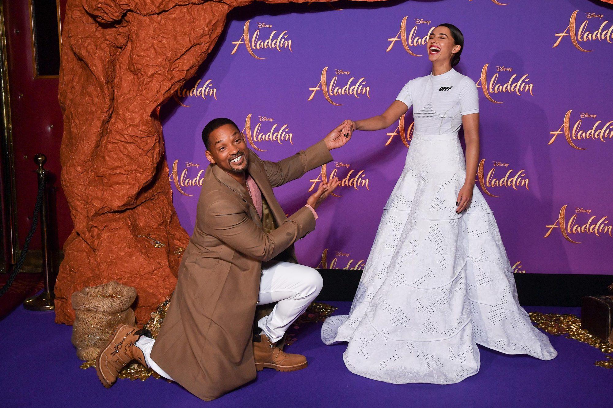 """Aladdin"" Paris Gala Screening : Photocall At Le Grand Rex In Paris"