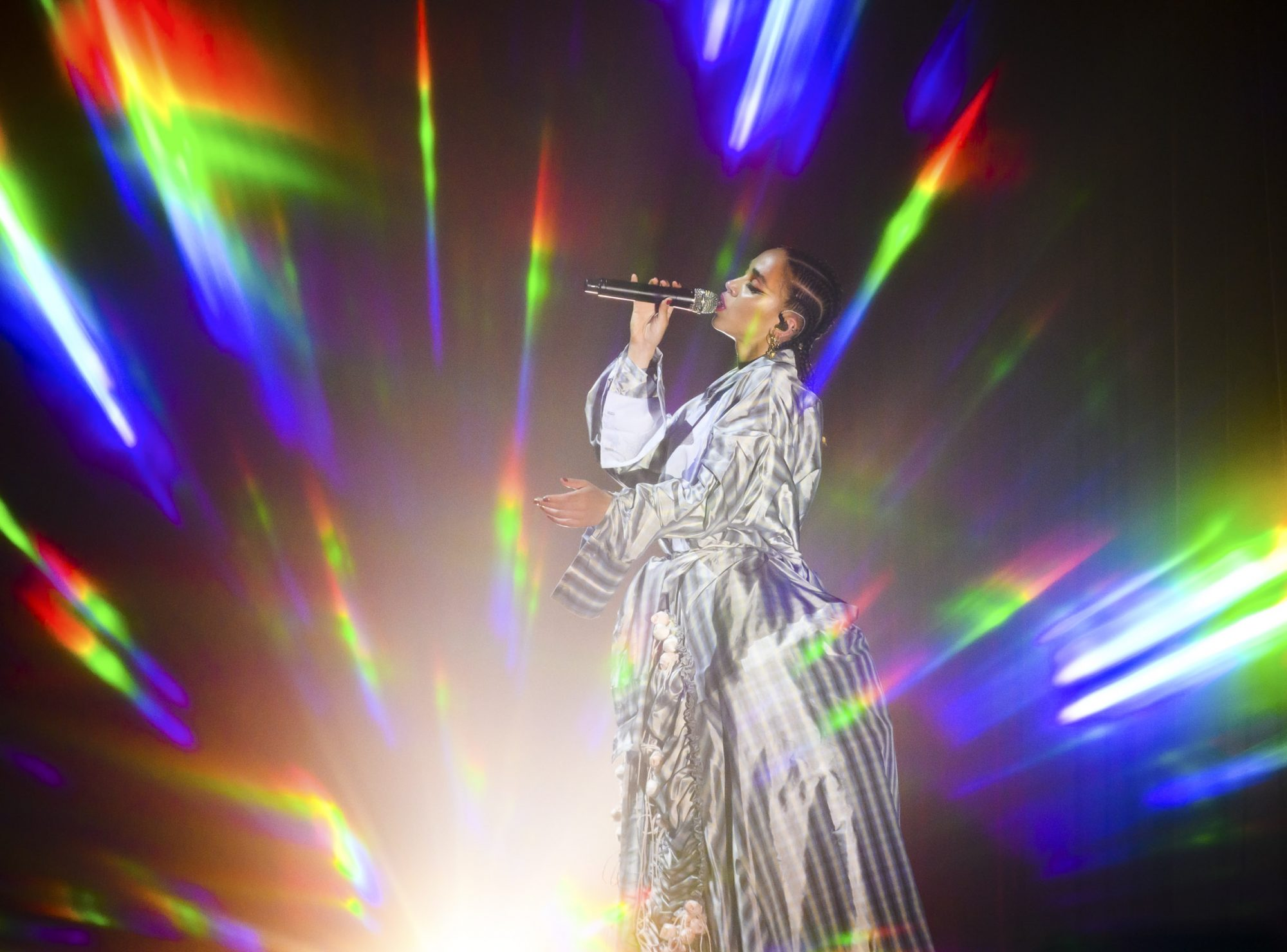 NEW YORK, NEW YORK - MAY 12: FKA twigs performs in concert at Park Avenue Armory on May 12, 2019 in New York City. (Photo by Noam Galai/Getty Images)