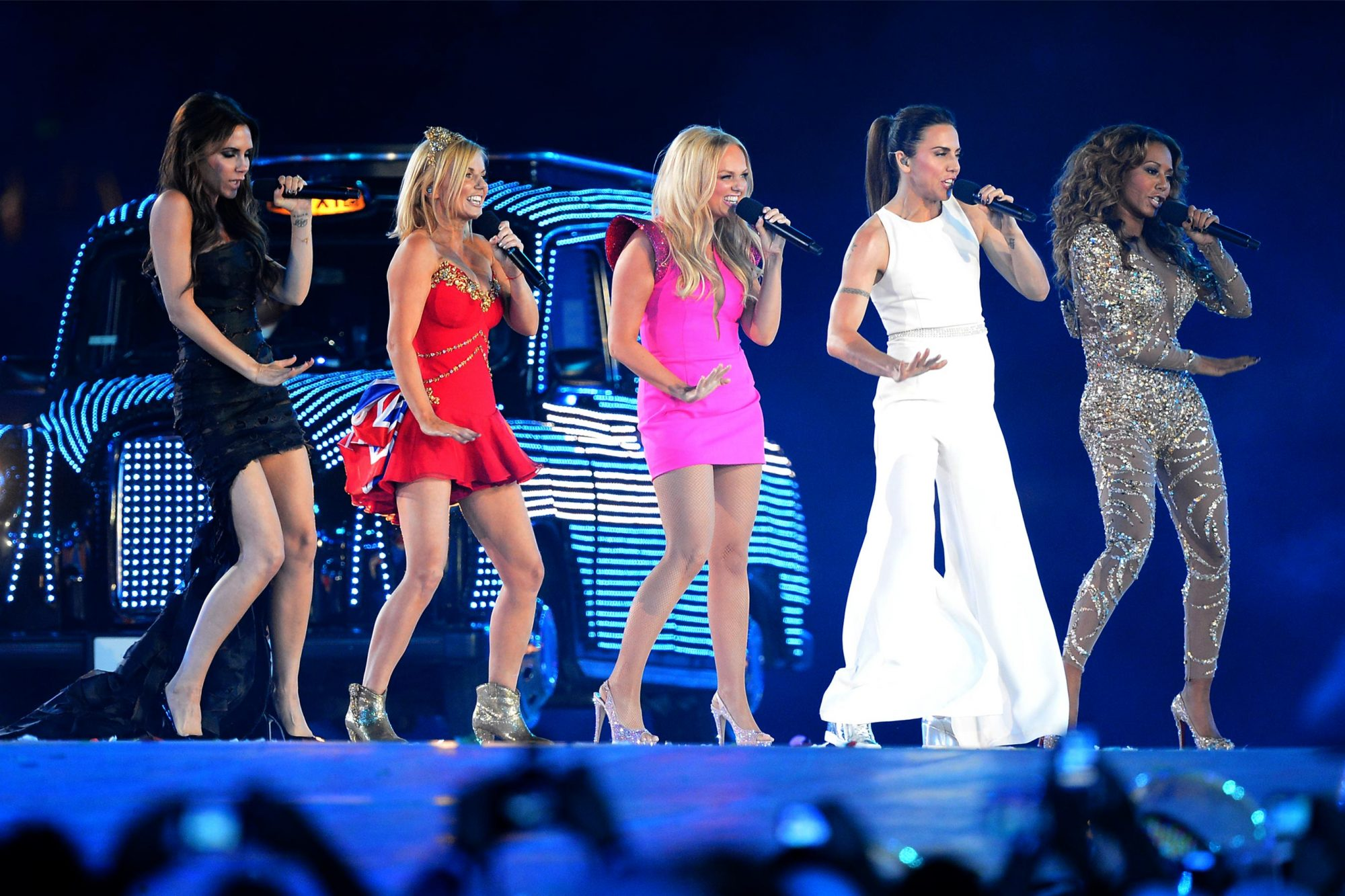 Spice Girls perform at the Olympic stadi