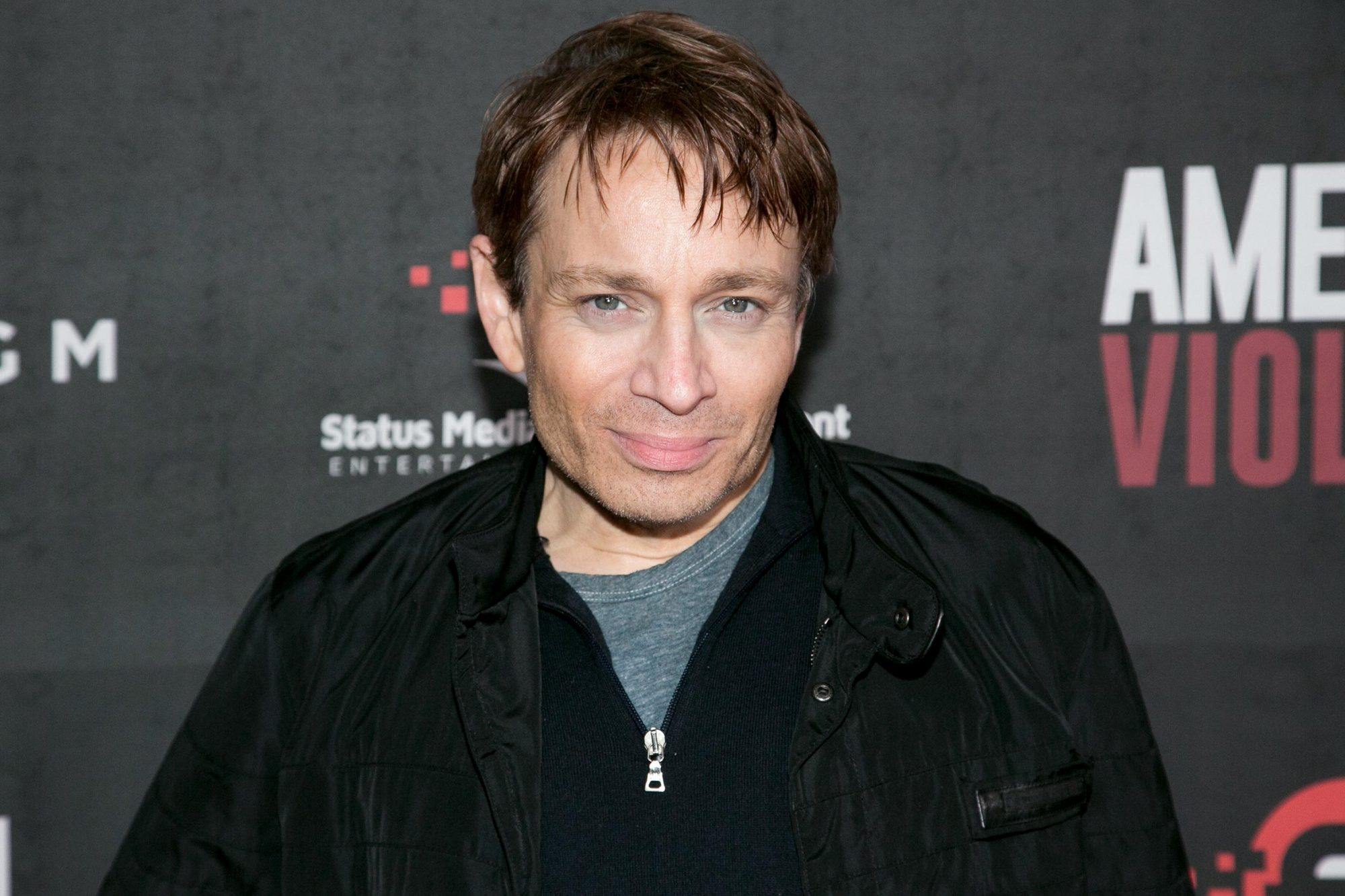 """HOLLYWOOD, CA - JANUARY 25: Chris Kattan arrives for the premiere of BondIt's """"American Violence"""" at the Egyptian Theatre on January 25, 2017 in Hollywood, California. (Photo by Gabriel Olsen/WireImage)"""
