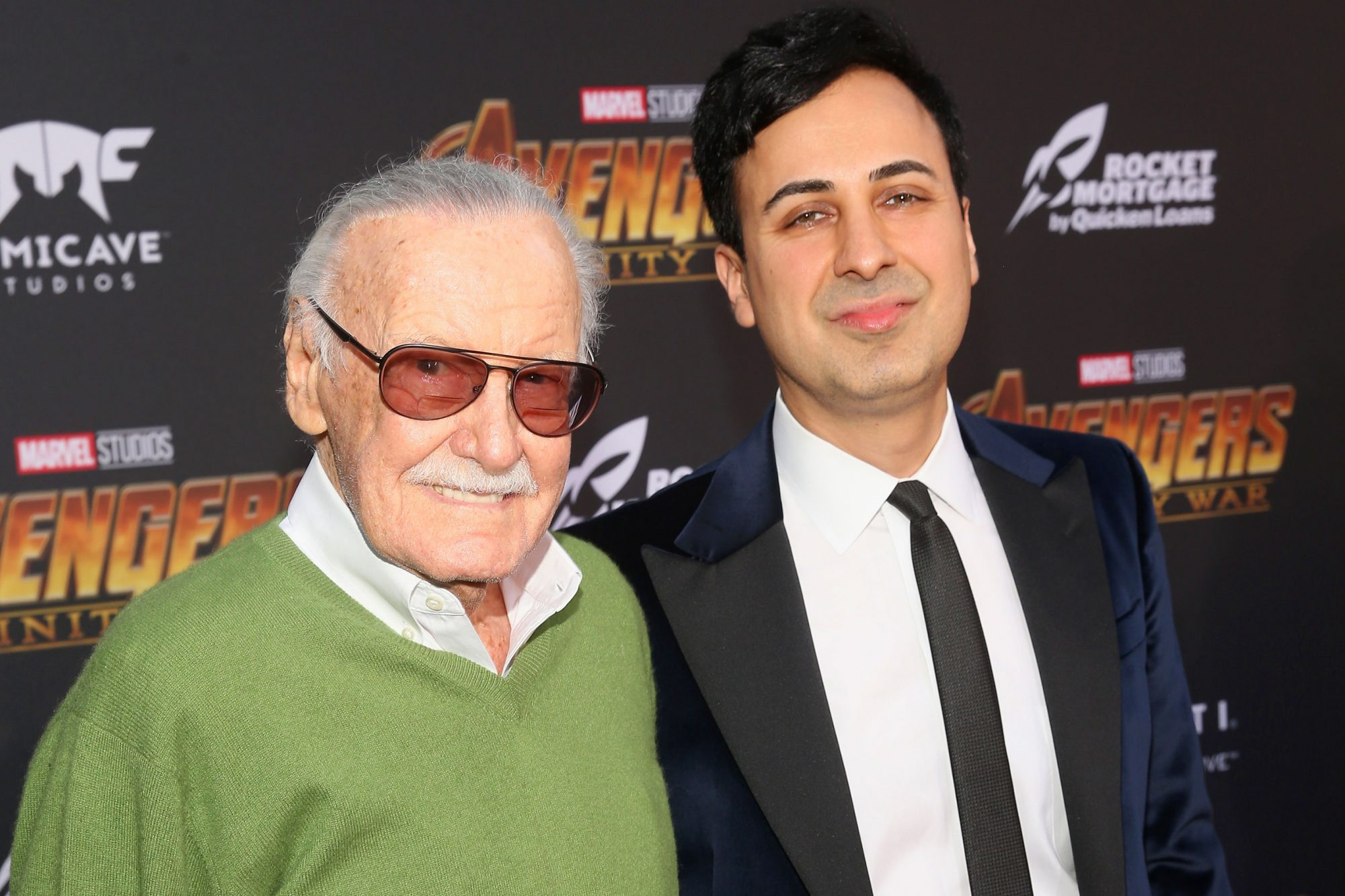 HOLLYWOOD, CA - APRIL 23: Stan Lee and Keya Morgan attends the Los Angeles Global Premiere for Marvel Studios? Avengers: Infinity War on April 23, 2018 in Hollywood, California. (Photo by Jesse Grant/Getty Images for Disney)