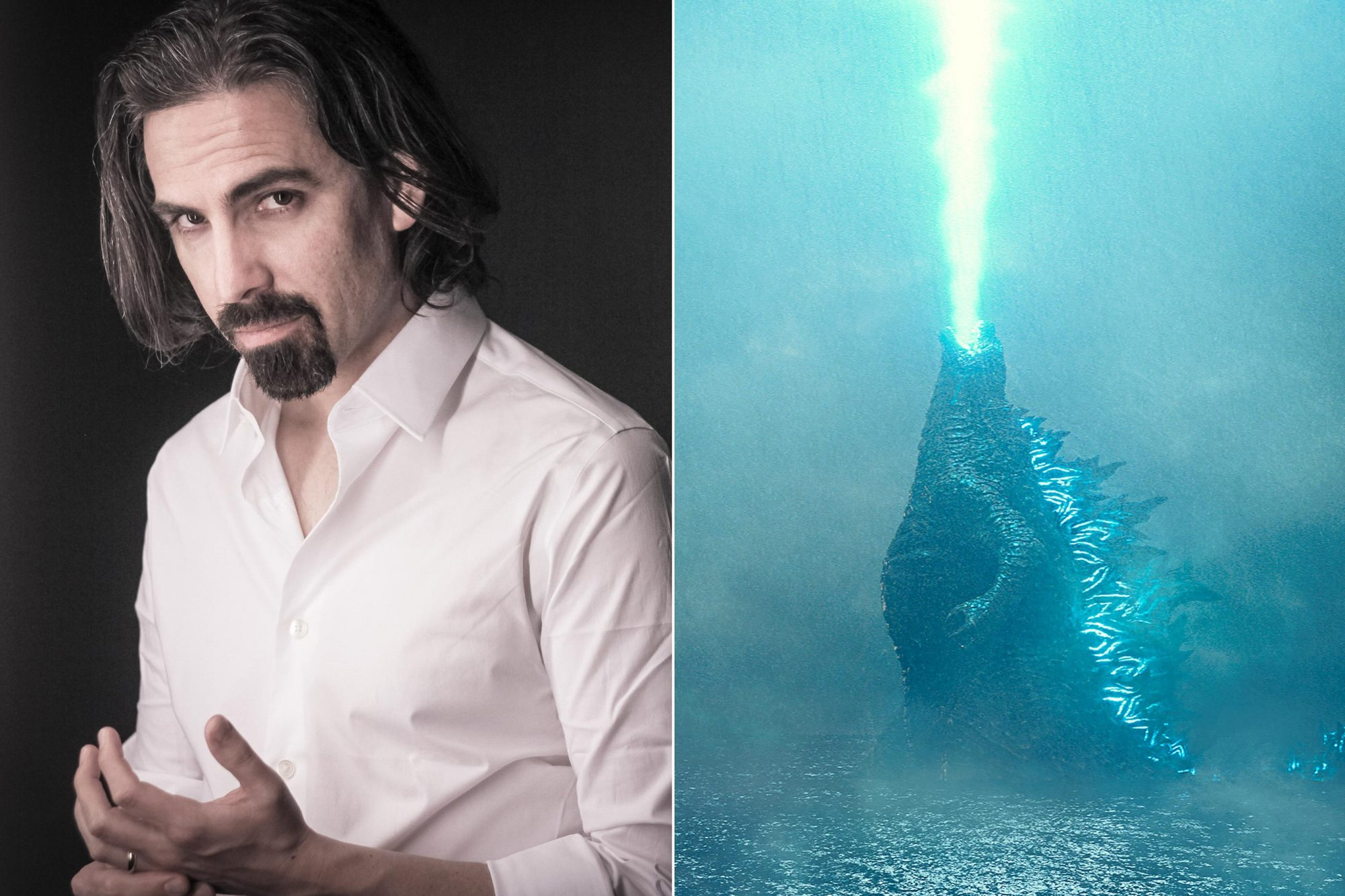 "Bear McCreary Headshot CR: Wes DeSoto GODZILLA in Warner Bros. Pictures' and Legendary Pictures' action adventure ""GODZILLA: KING OF THE MONSTERS,"" a Warner Bros. Pictures release. CR: Warner Bros. Pictures"