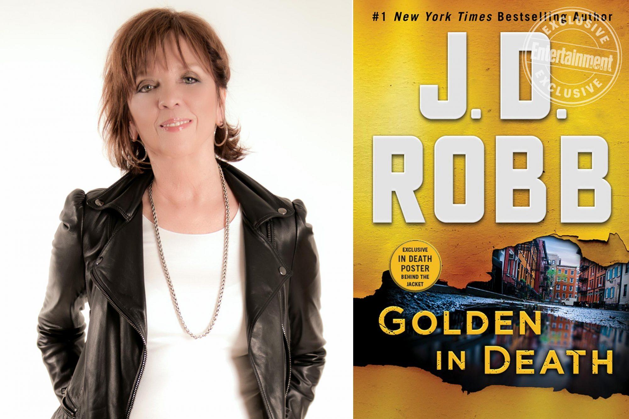 Nora Roberts aka JD Robb author photo CR: Bruce Wilder Golden In Death by J.D. Robb CR: St. Martin's Press