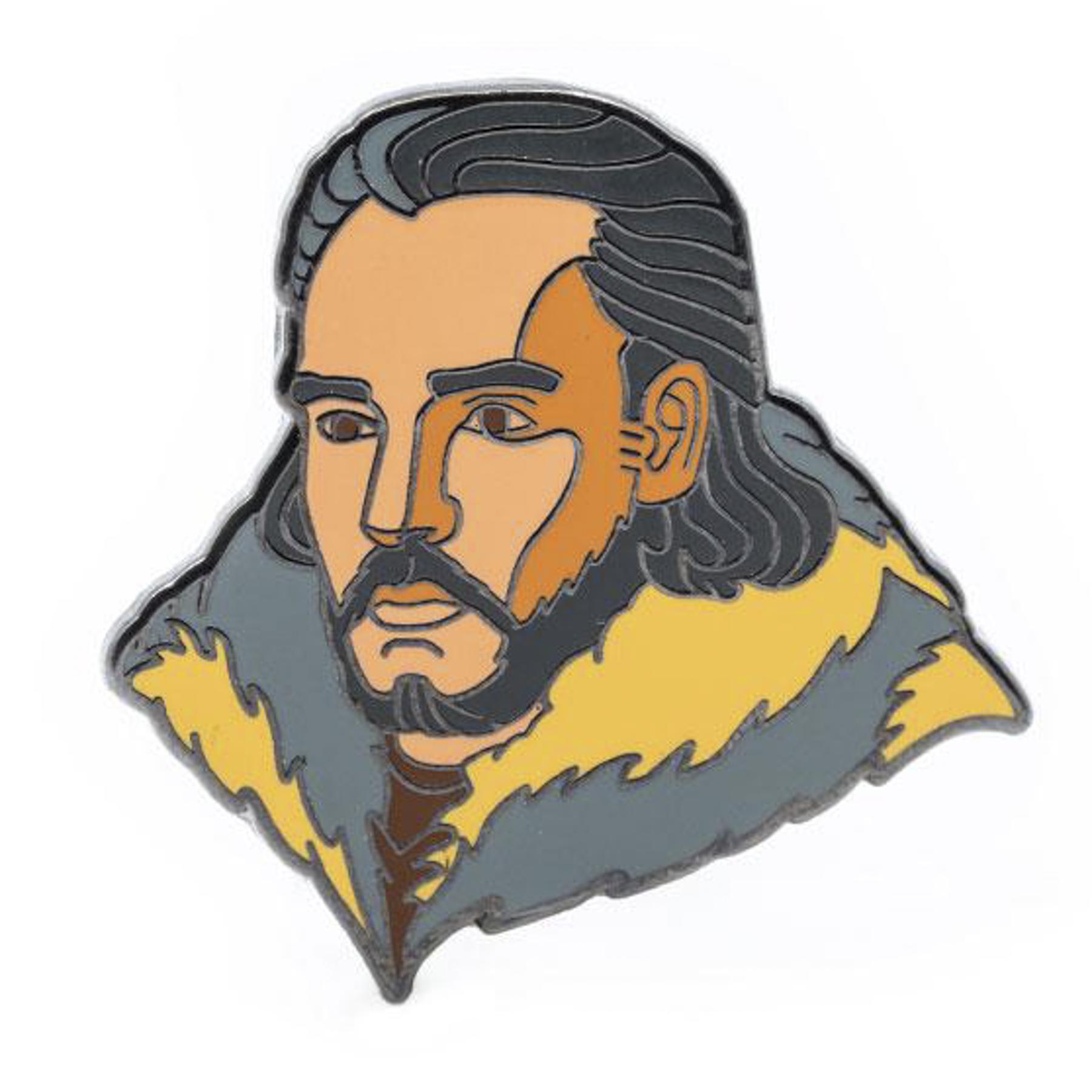Robert Ball Jon Snow Pin from Game of Thrones https://shop.hbo.com/products/robert-ball-jon-snow-pin-from-game-of-thrones CR: HBO Shop