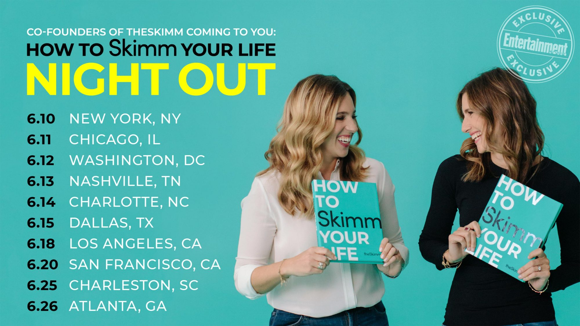 How to Skimm Your Life: Night Out tour key art CR: Courtesy of Ballantine Books