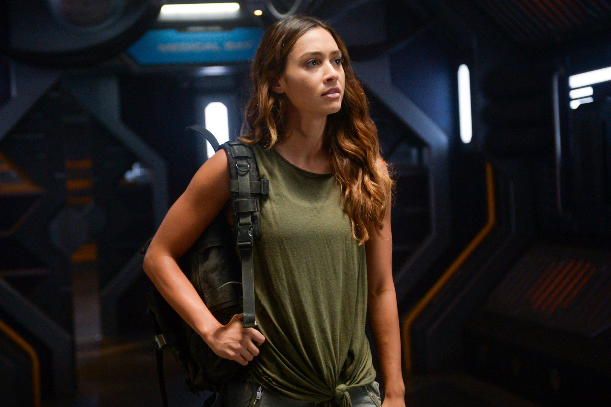 "The 100 -- ""Sanctum"" -- Image Number: HU601a_0382r.jpg -- Pictured: Lindsey Morgan as Raven -- Photo: Sergei Bachlakov/The CW -- © 2019 The CW Network, LLC. All rights reserved."