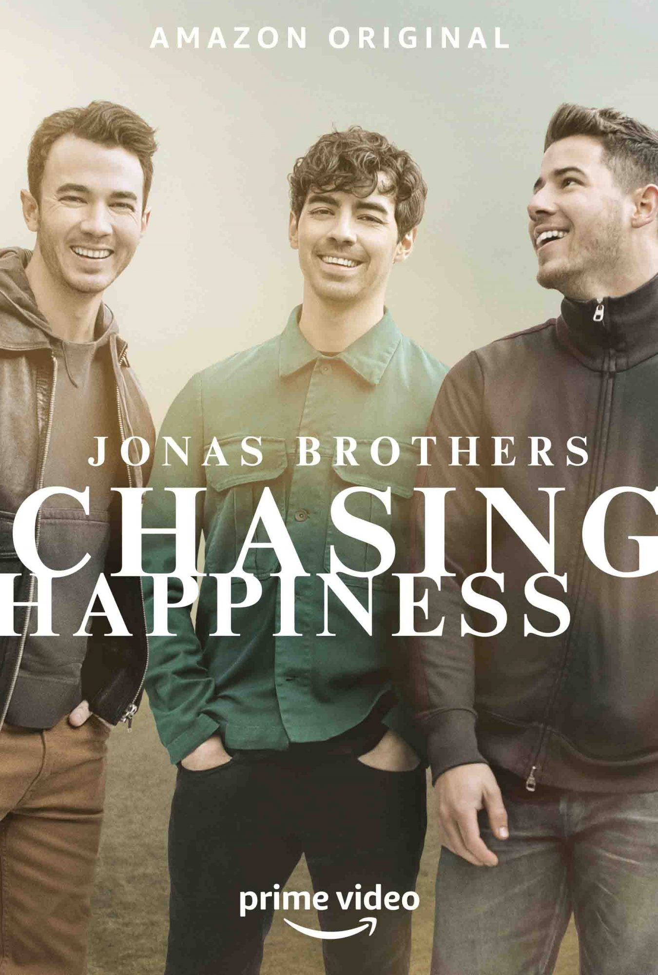 Jonas Brothers' Chasing Happiness movie poster CR: Amazon Prime Video