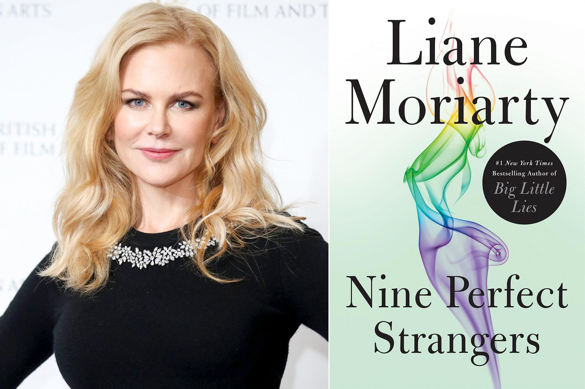 LONDON, ENGLAND - NOVEMBER 21: Nicole Kidman during a photocall for her 'A Life In Pictures' retrospective at BAFTA on November 21, 2018 in London, England. (Photo by Mike Marsland/WireImage) Nine Perfect Strangers Hardcover – November 6, 2018 by Liane Moriarty (Author) Publisher: Flatiron Books (November 6, 2018)