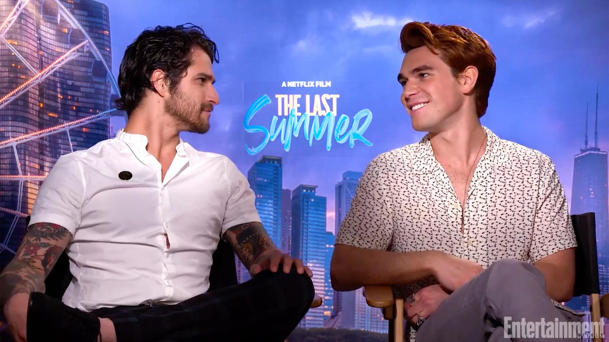 The Last Summer Interview (screen grab) CR: EW