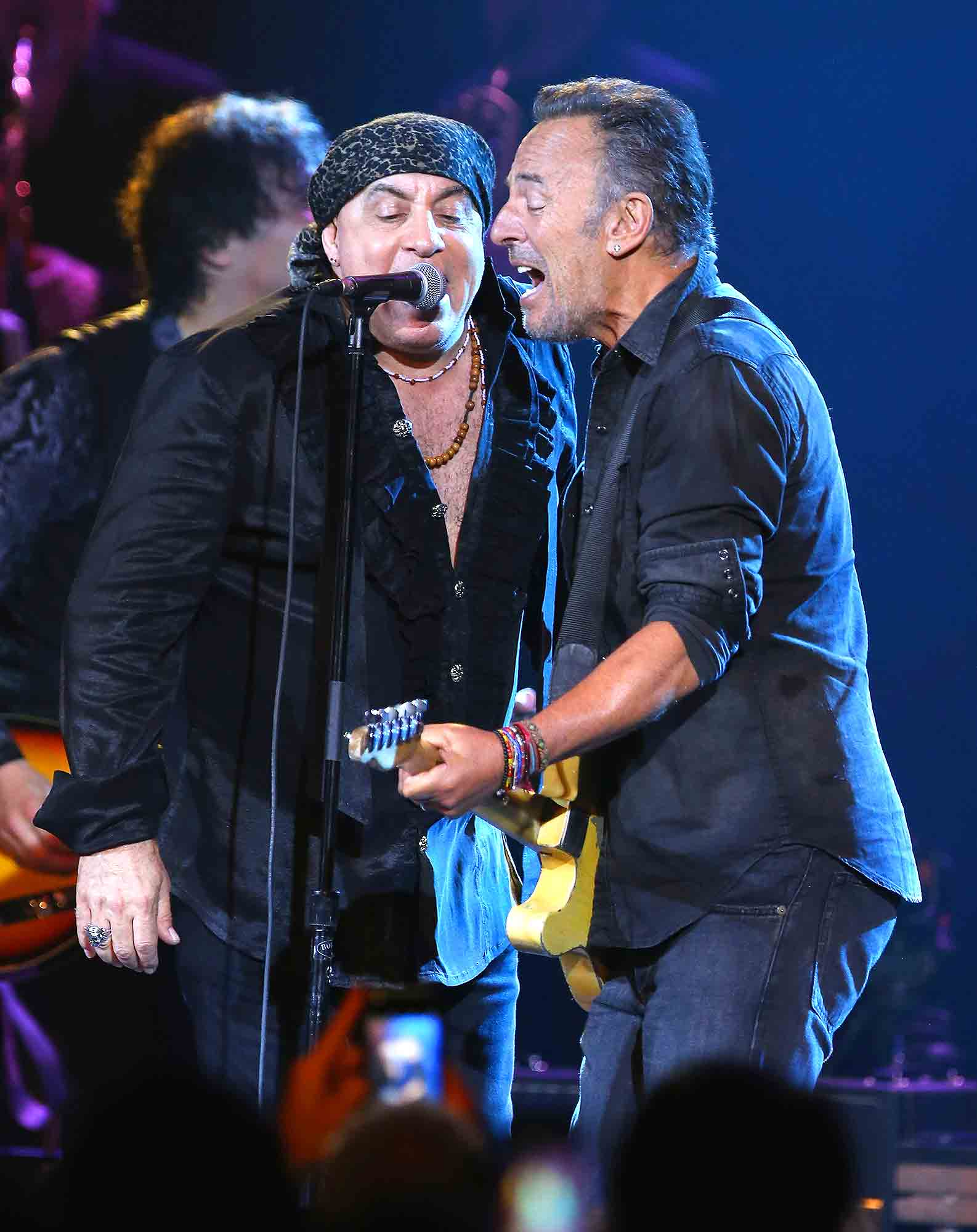 Bruce Springsteen and Steven Van Zandt when Little Steven and The Disciples of Soul