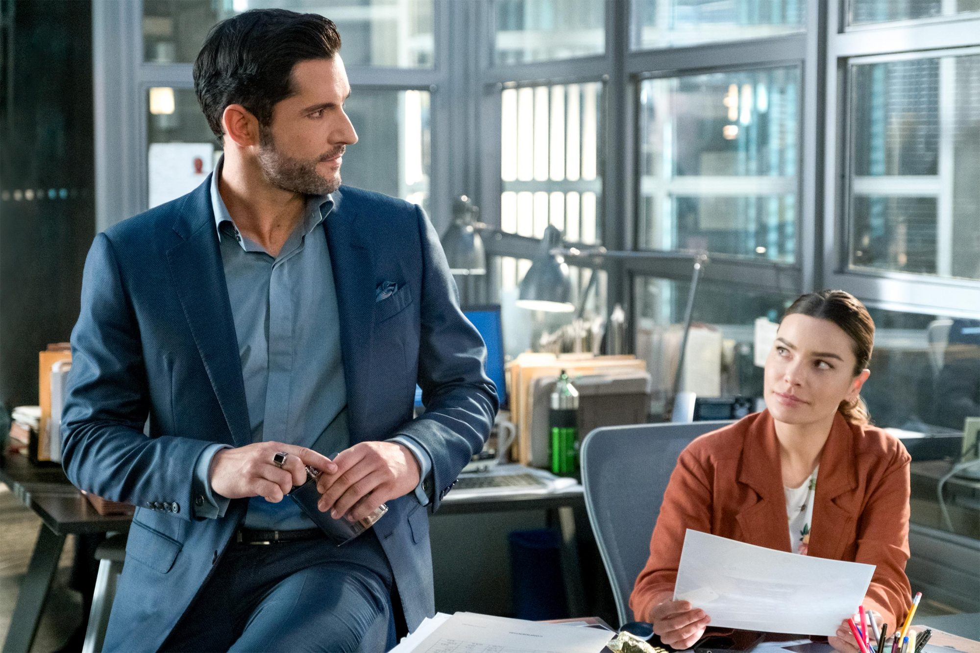 Lucifer Season 4, EPISODE 3 PHOTO CREDIT John P. Fleenor/Netflix PICTURED Tom Ellis, Lauren German