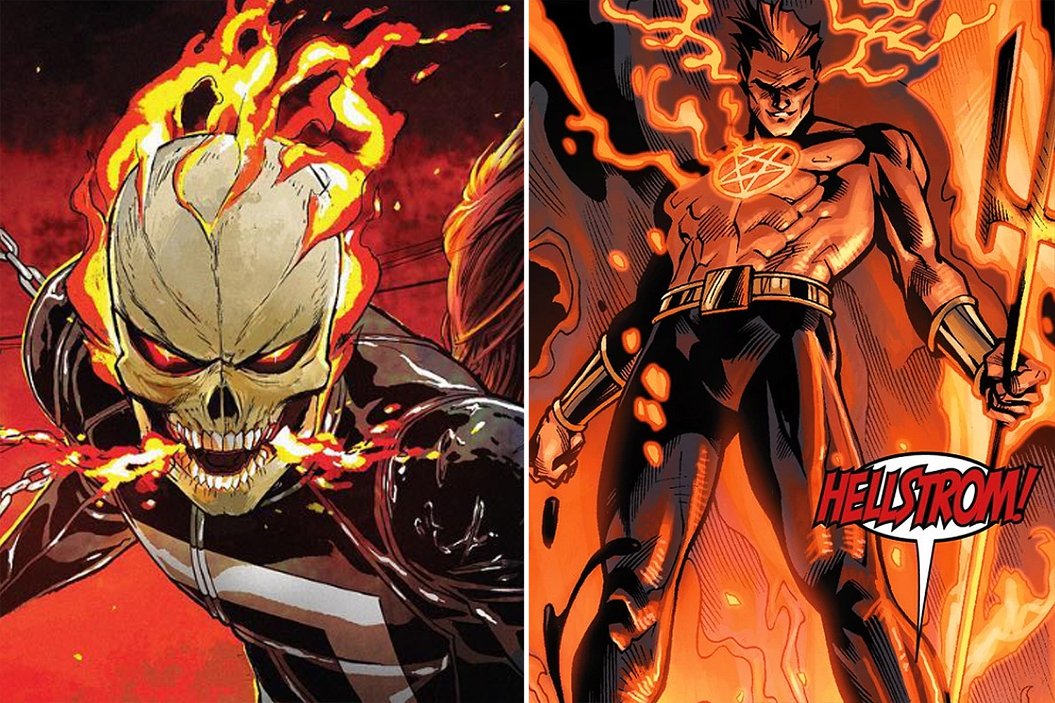 Ghost Rider and Daimon Hellstrom