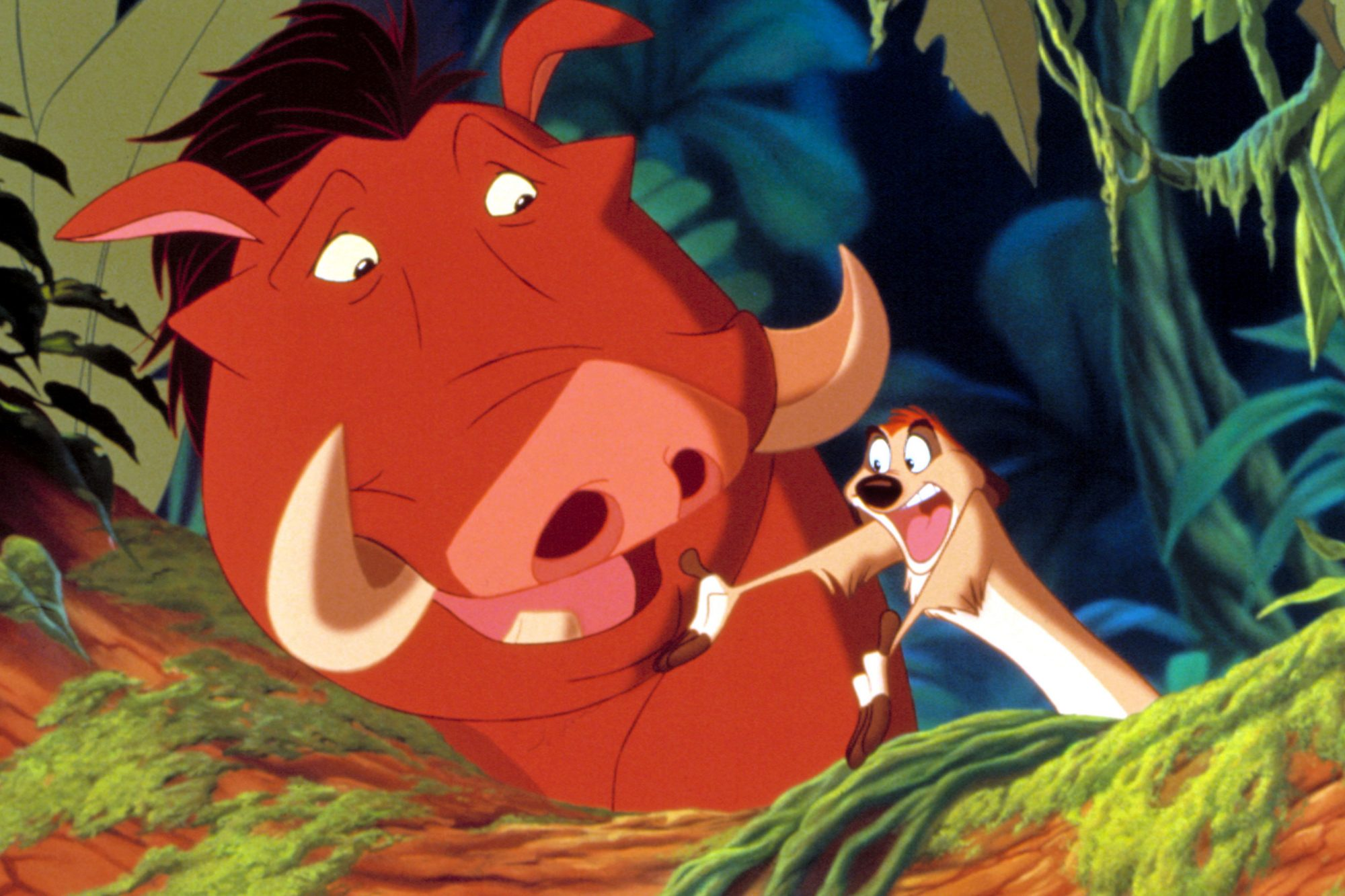 THE LION KING, Pumbaa, Timon, 1994. ©Buena Vista Pictures/Courtesy Everett Collection