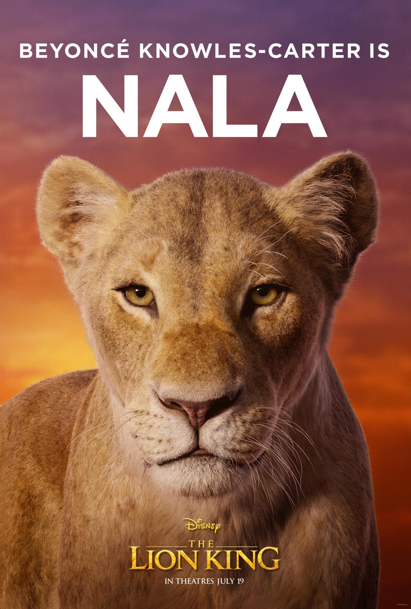 The Lion King Posters Turns Beyonce Donald Glover More Into Animal Royalty Ew Com