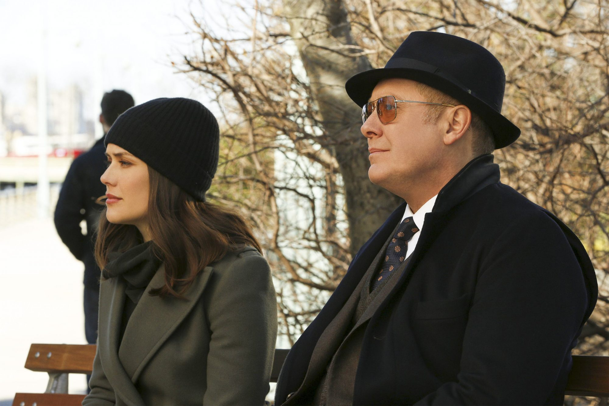 "THE BLACKLIST -- ""Guillermo Rizal (#128)"" Episode 620 -- Pictured: (l-r) Megan Boone as Elizabeth Keen, James Spader as Raymond ""Red"" Reddington -- (Photo by: Will Hart/NBC)"