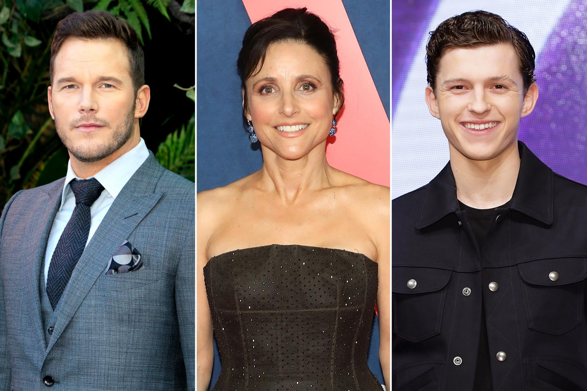 Chris Pratt; Julia Louis-Dreyfus; Tom Holland