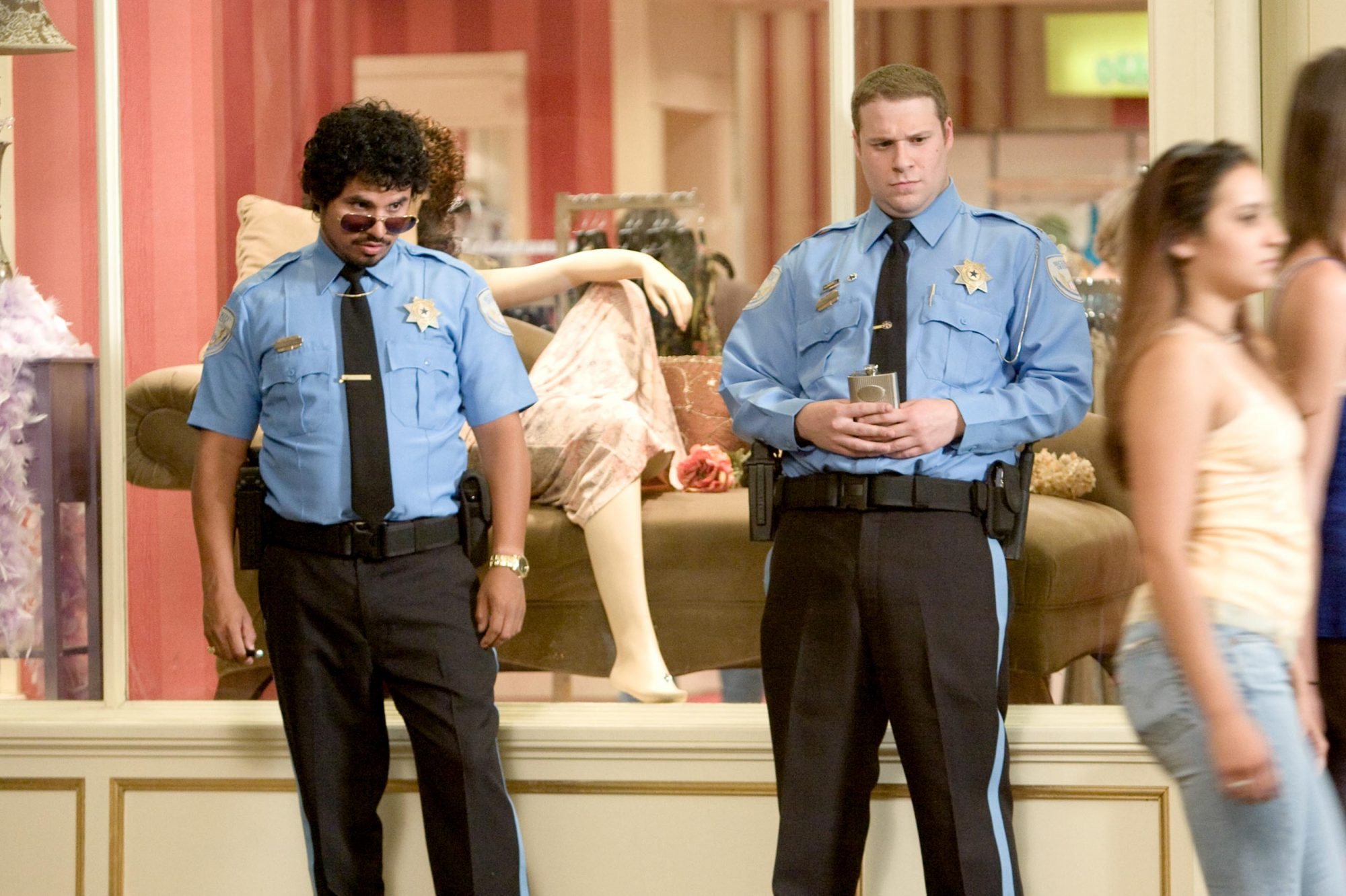 12. Seth Rogen and Michael Peña in Observe and Report (2009)