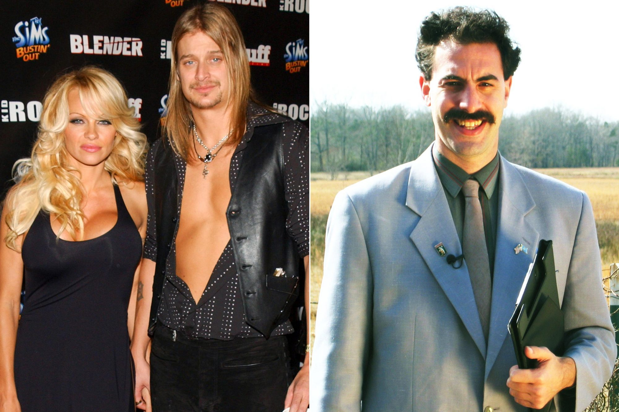 Kid Rock's After - Party For The 2003 American Music Awards- Red Carpet/Inside Pamela Anderson and Kid Rock (Photo by Jean-Paul Aussenard/WireImage) DA ALI G SHOW, Sacha Baron Cohen (as Borat), 2003-, photo: © HBO / Courtesy: Everett Collection