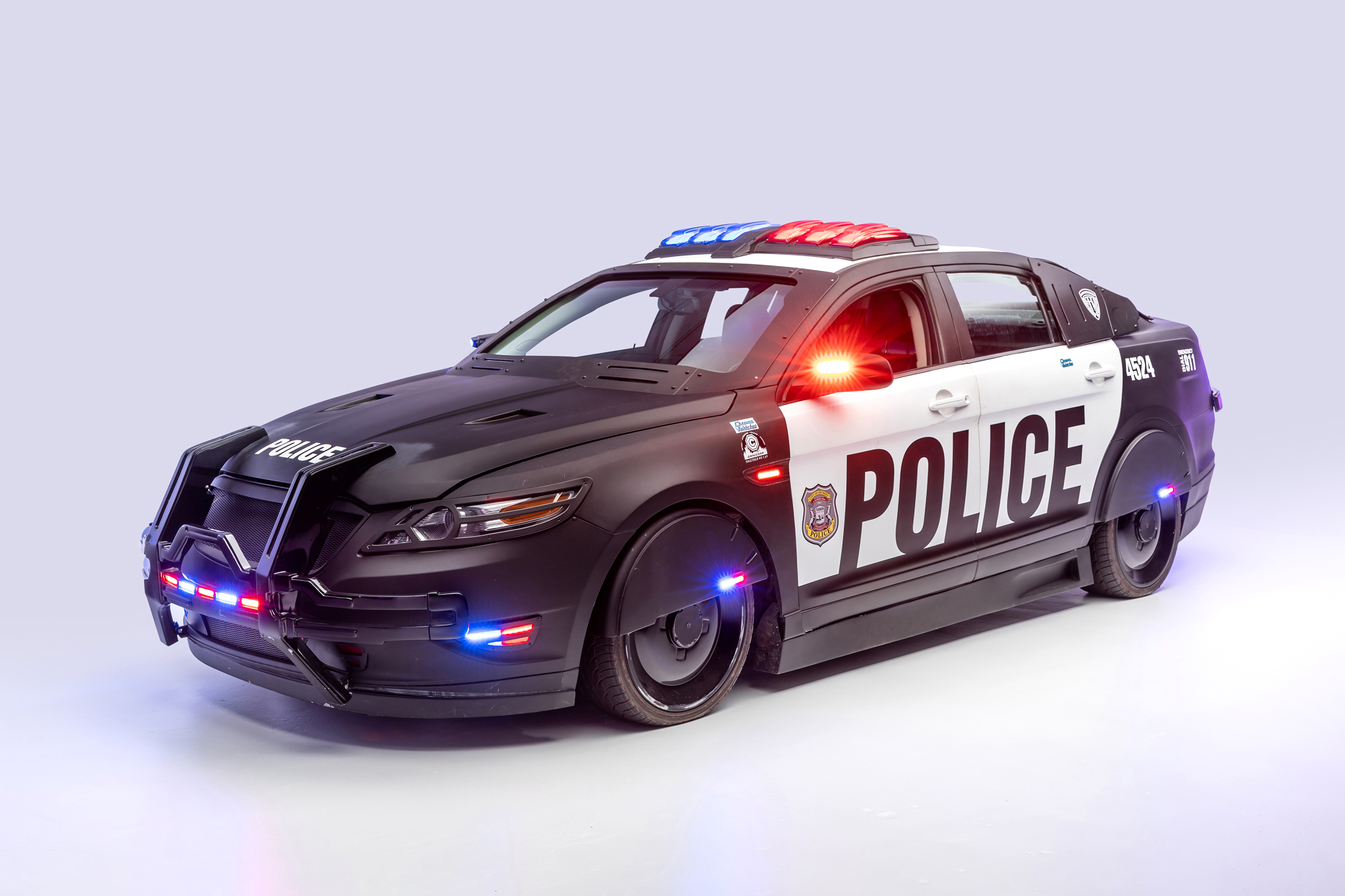 Robocop Ford Taurussci-fi movie and TV cars on display at LA's Petersen Museum
