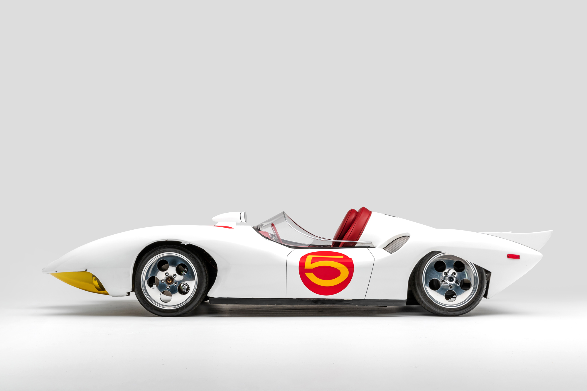 Speed Racer Mach 5sci-fi movie and TV cars on display at LA's Petersen Museum