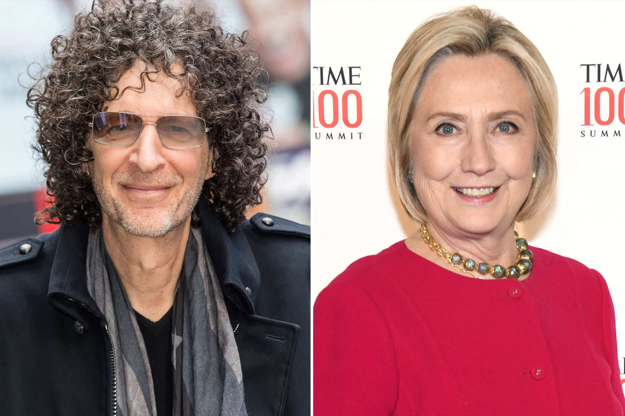 Howard Stern and Hilary Clinton