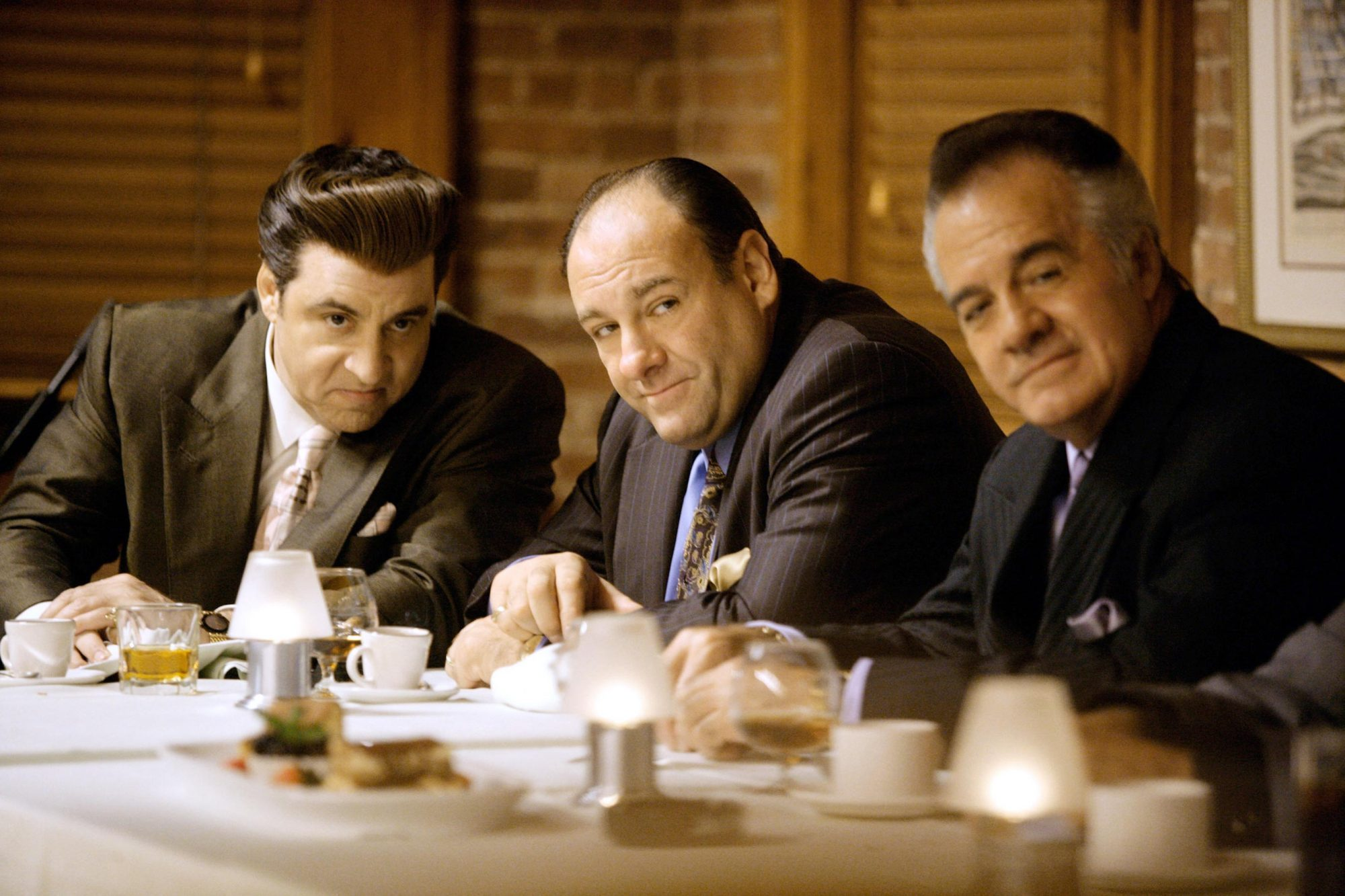 THE SOPRANOS, Steven Van Zandt, James Gandolfini, Tony Sirico, (Season 7), 1999-2007. photo: Craig B