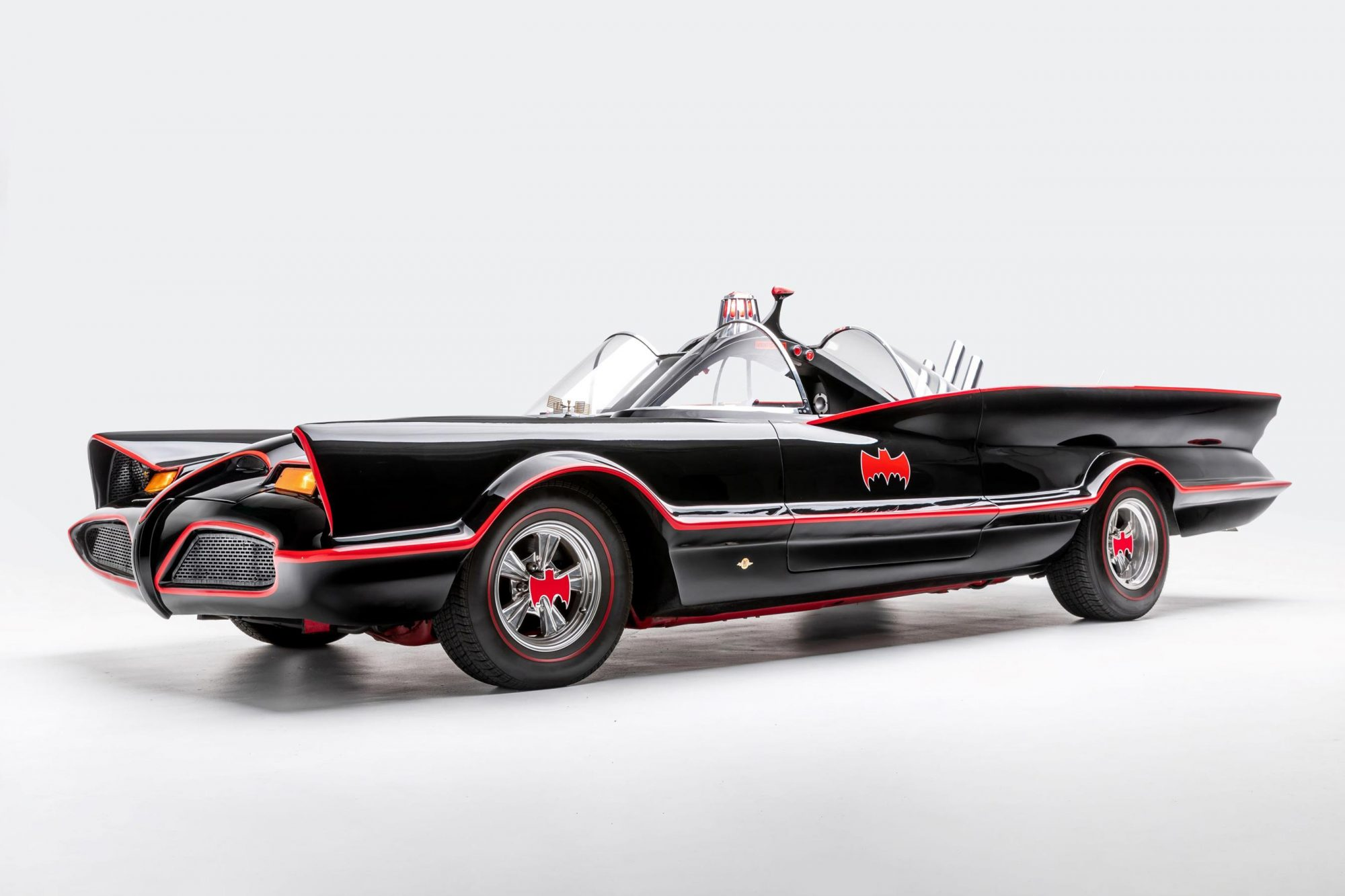 1966 Batmobile (replica) — Batman TV series (1966-1968) and Batman: The Movie (1966)