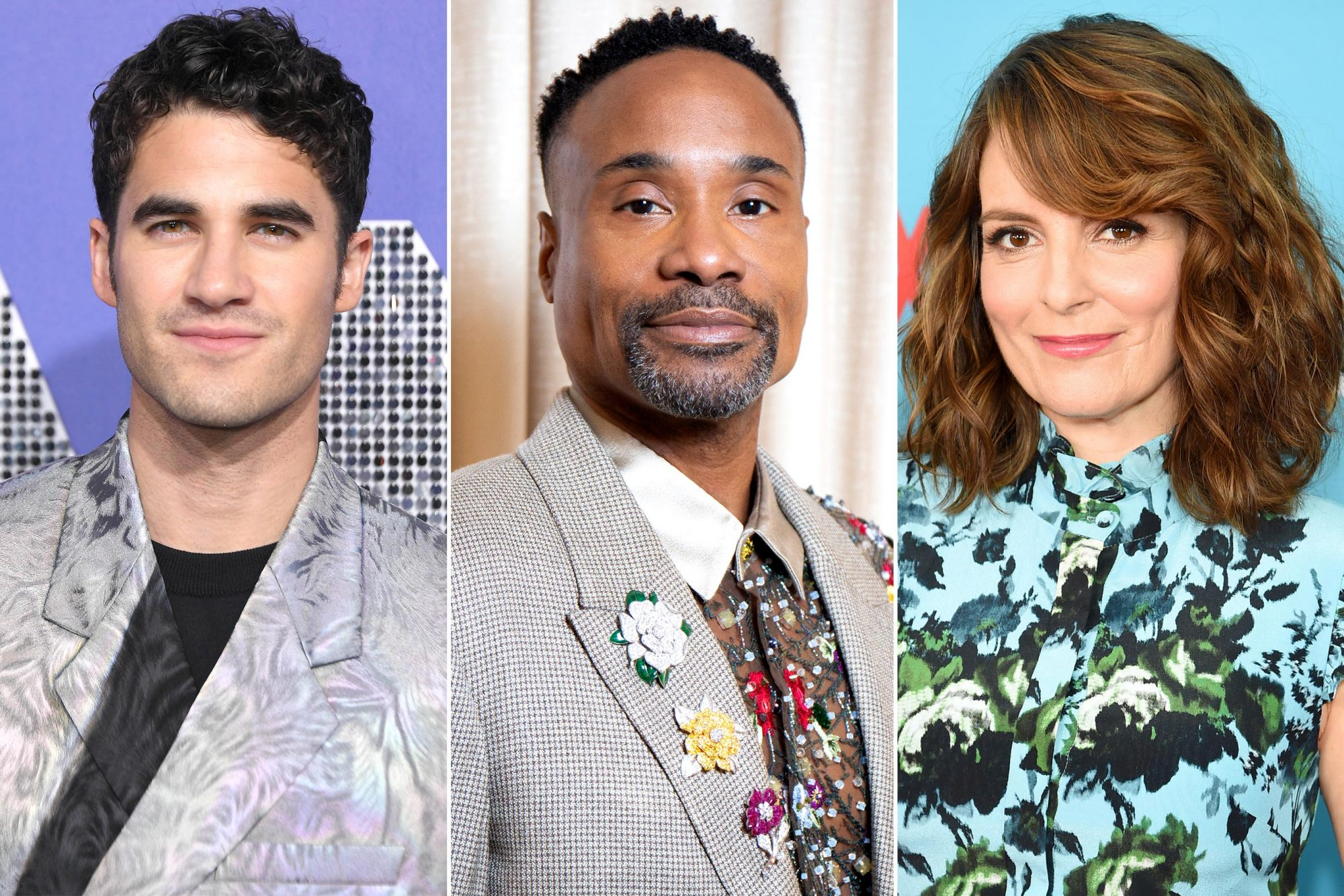 Darren Criss, Billy Porter, and Tina Fey