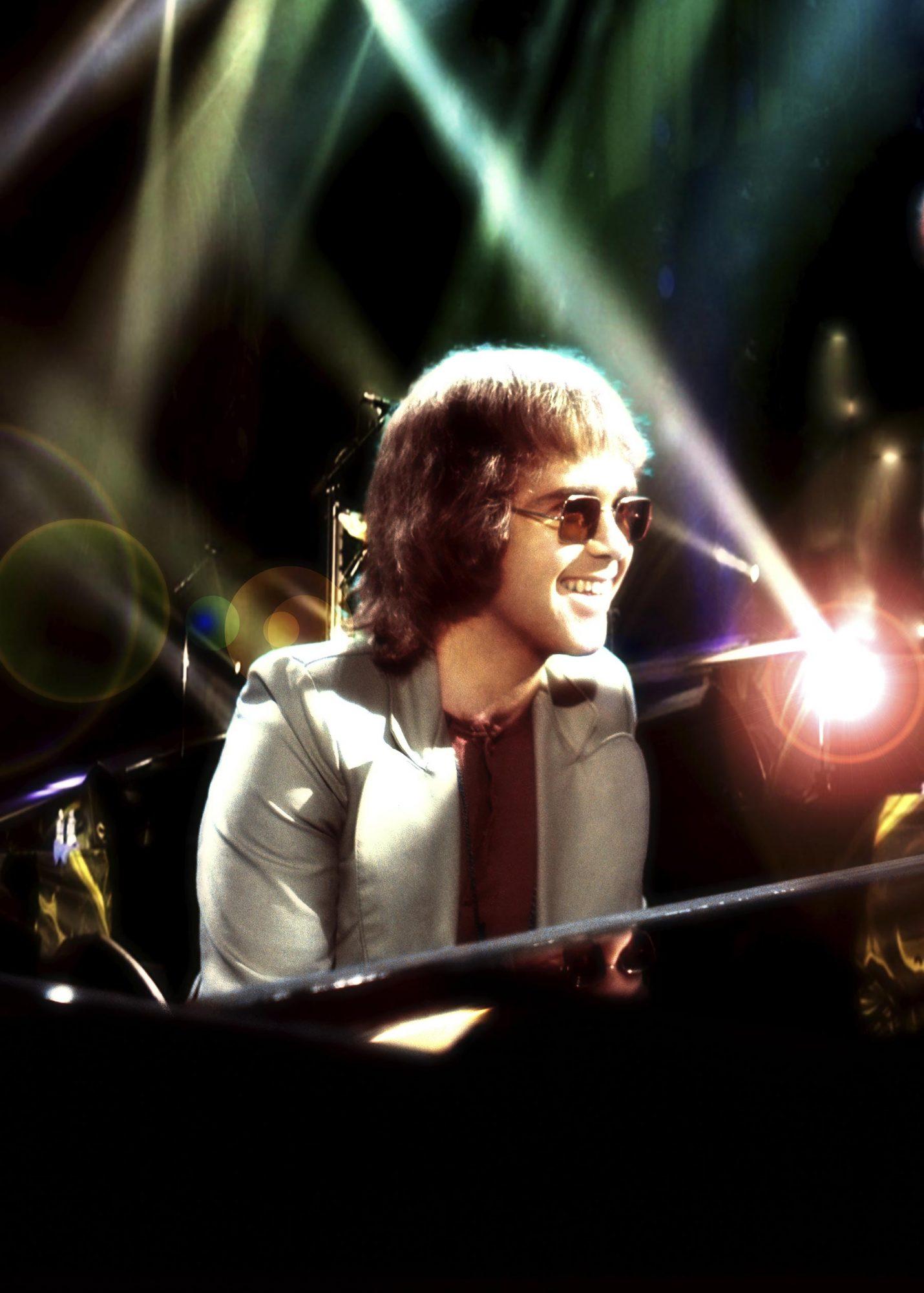 Elton John. on stage at German TV, Berlin