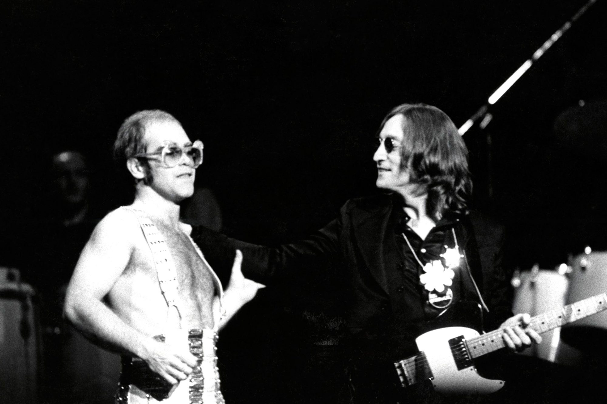 Photo of Elton JOHN and John LENNON