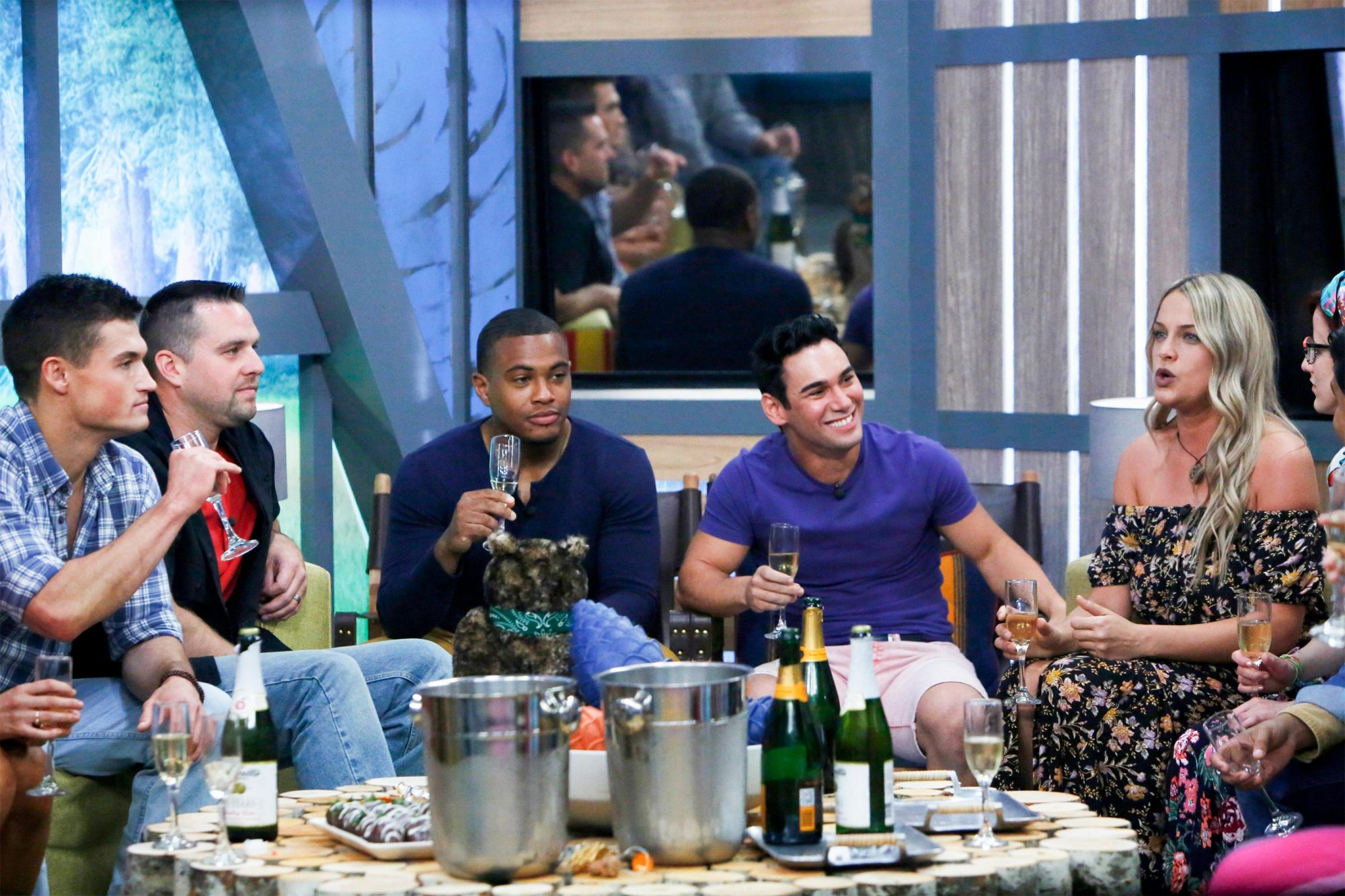 Jackson Michie, Sam Smith, David Alexander, Tommy Bracco, and Christie Murphy in the Big Brother House. BIG BROTHERÕs two-night premiere event airing Tuesday, June 25 and Wednesday, June 26 (8:00 Ð 9:00 PM, ET/PT), on the CBS Television Network. Following the two-night premiere, BIG BROTHER will be broadcast Sunday, June 30 (8:00-9:00 PM, ET/PT) and Tuesday, July 2 (8:00-9:00 PM, ET/PT). The first live eviction airs Wednesday, July 3. As of Wednesday, July 10, the show moves to its regular schedule of Wednesdays (9:00-10:00 PM, ET/PT), Thursdays, featuring the live evictions (9:00-10:00 PM, LIVE ET/Delayed PT) and Sundays (8:00-9:00 PM, ET/PT). Reserved Photo: Monty Brinton/CBS ©2018 CBS Broadcasting, Inc. All Rights Reserved