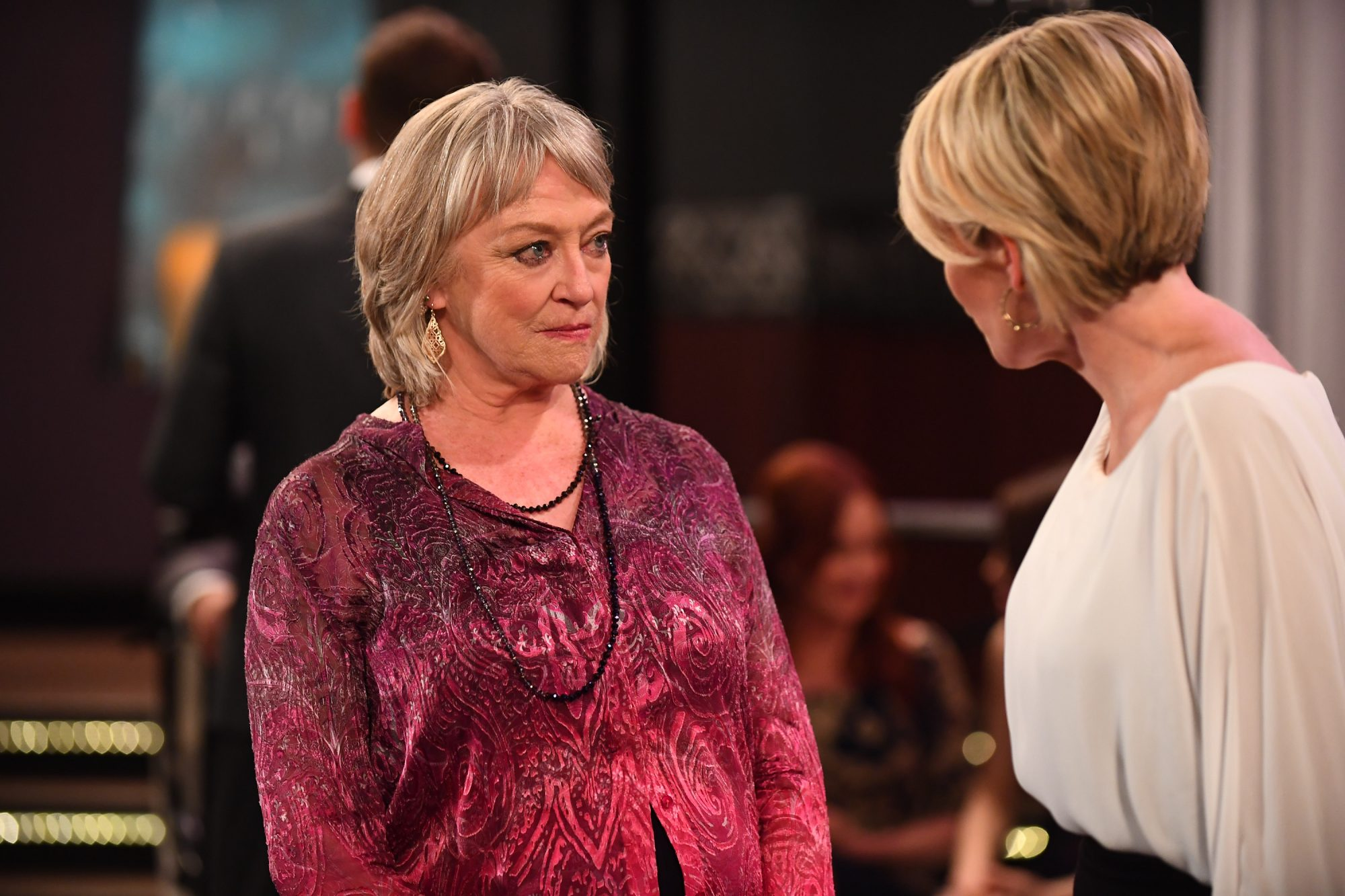 """GENERAL HOSPITAL - Scenes that air from the week of July 1, 2019 through the week of July 8, 2019 on ABC's """"General Hospital."""" """"General Hospital"""" airs Monday-Friday, 3-4pm, ET on ABC. (Walt Disney Television/Matt Petit) VERONICA CARTWRIGHT, MAURA WEST"""