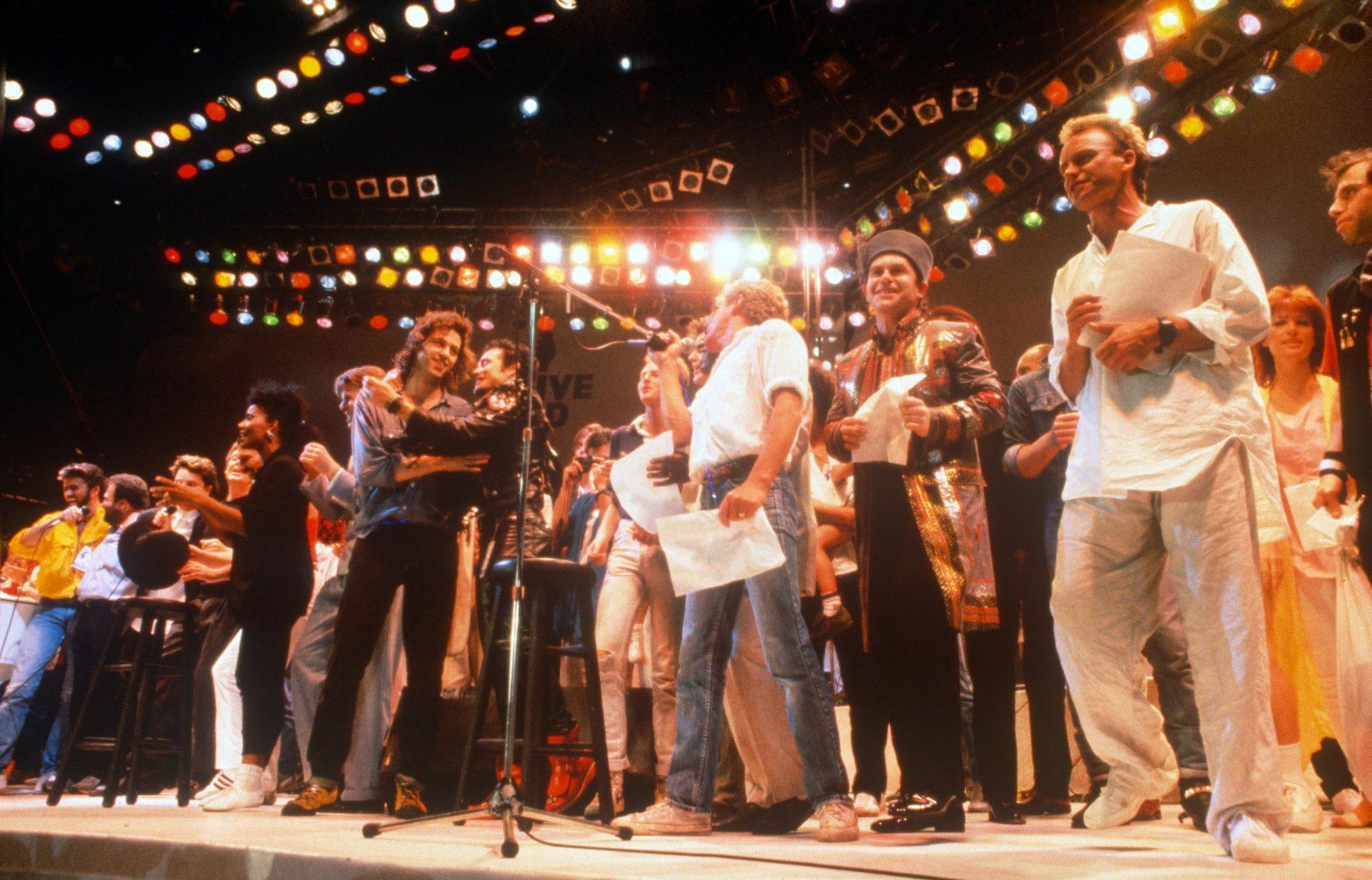 Live Aid At Wembley Stadium