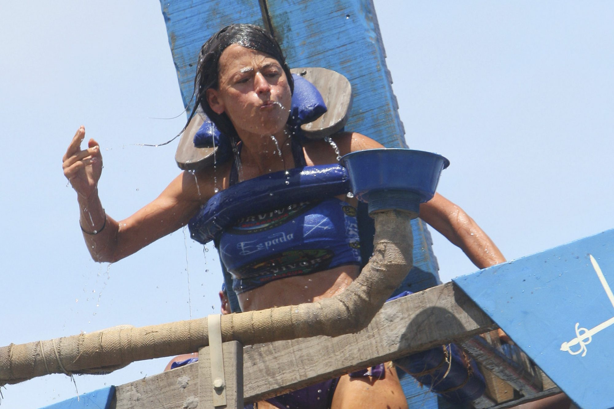 Yve Rojas, during the challenge, during the fifth episode of SURVIVOR: NICARAGUA, Wednesday, Oct. 13 (8:00 - 9:00 PM ET/PT) on the CBS Television Network. Photo: Monty Brinton/CBS ©2010 CBS Broadcasting Inc. All Rights Reserved