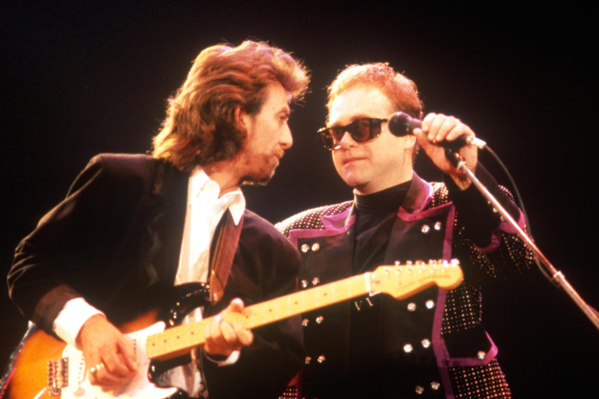 George Harrison And Elton John At Wembley Arena