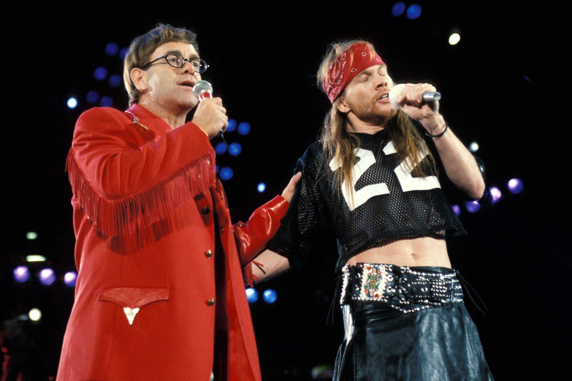 Photo of Axl ROSE and Elton JOHN