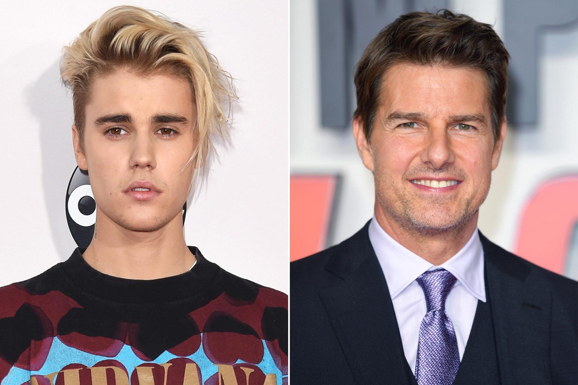 Justin Bieber; Tom Cruise