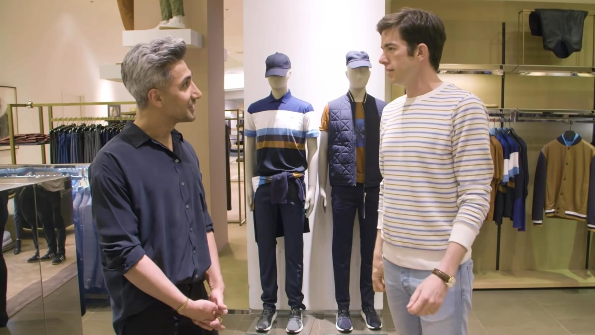 Tan France Gives John Mulaney a Hypebeast Makeover | Dressing Funny | Netflix Is A Joke (screen grab) https://www.youtube.com/watch?v=N8Fin1aw9oM CR: Netflix