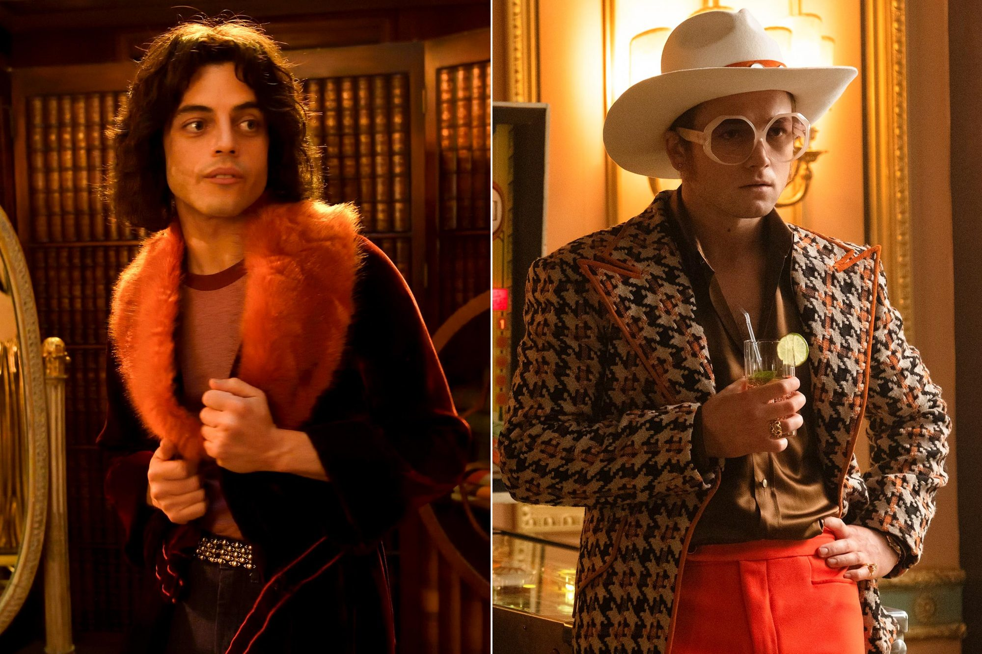 Bohemian Rhapsody Pictured: Rami Malek CR: Alex Bailey/Fox Taron Egerton as Elton John in Rocketman from Paramount Pictures. CR: David Appleby/Paramount Pictures